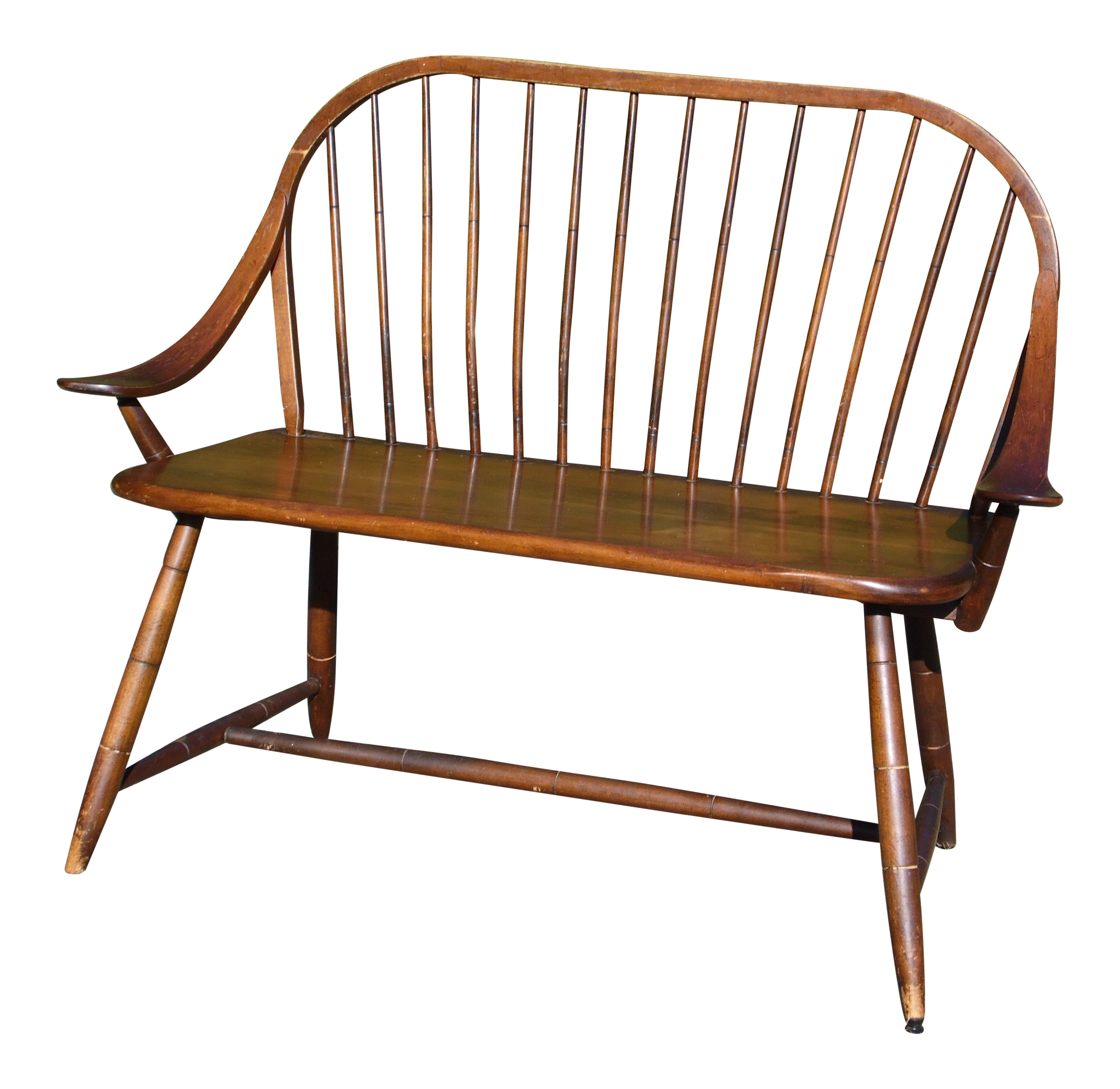 Excellent Vintage Hale Of Vt Windsor Spindle Back Prospers Bench Bentwood Settee Gmtry Best Dining Table And Chair Ideas Images Gmtryco