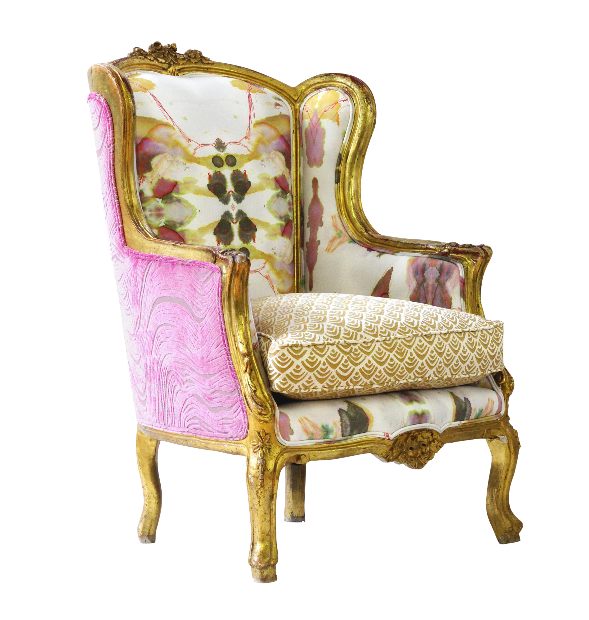 Boho Chic Furniture: Pink Boho Chic Upholstered Armchair