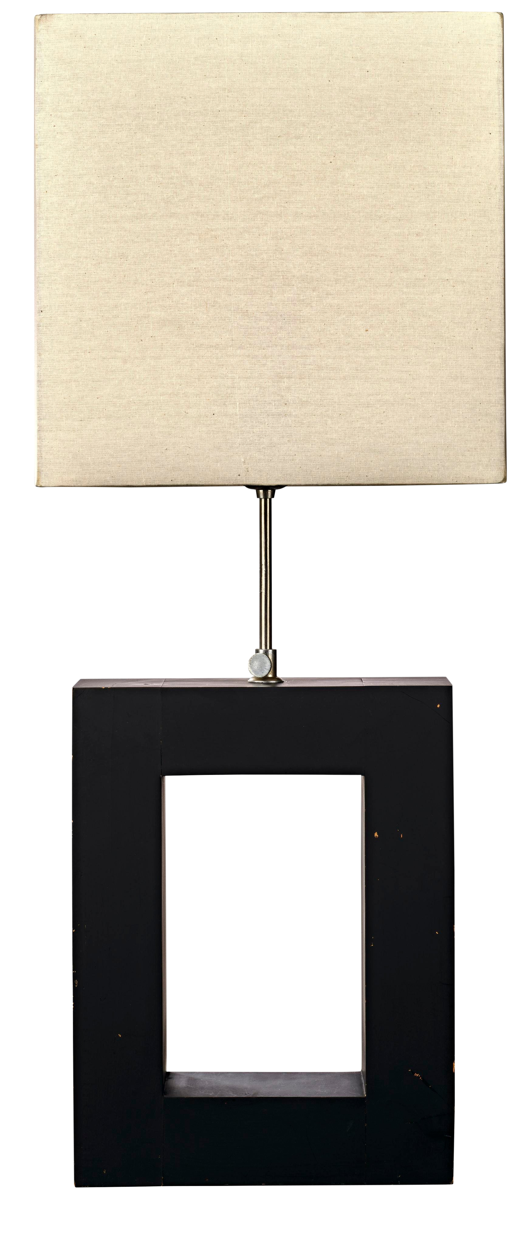 Mid Century Modern Wood Cube Adjustable Table Lamp With Rectangular