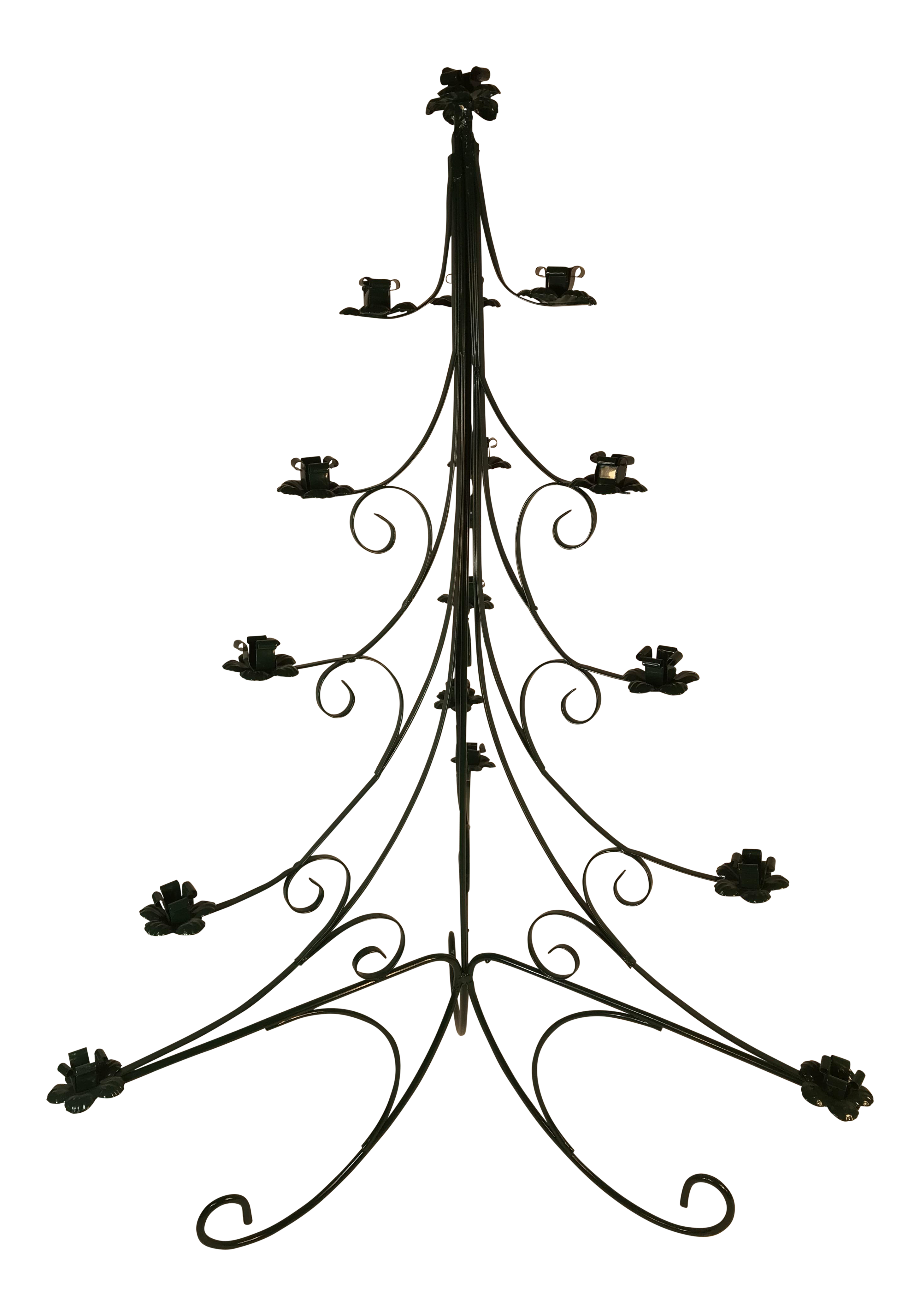 Sweedish Wrought Iron Table Top Christmas Candle Holder Tree | Chairish