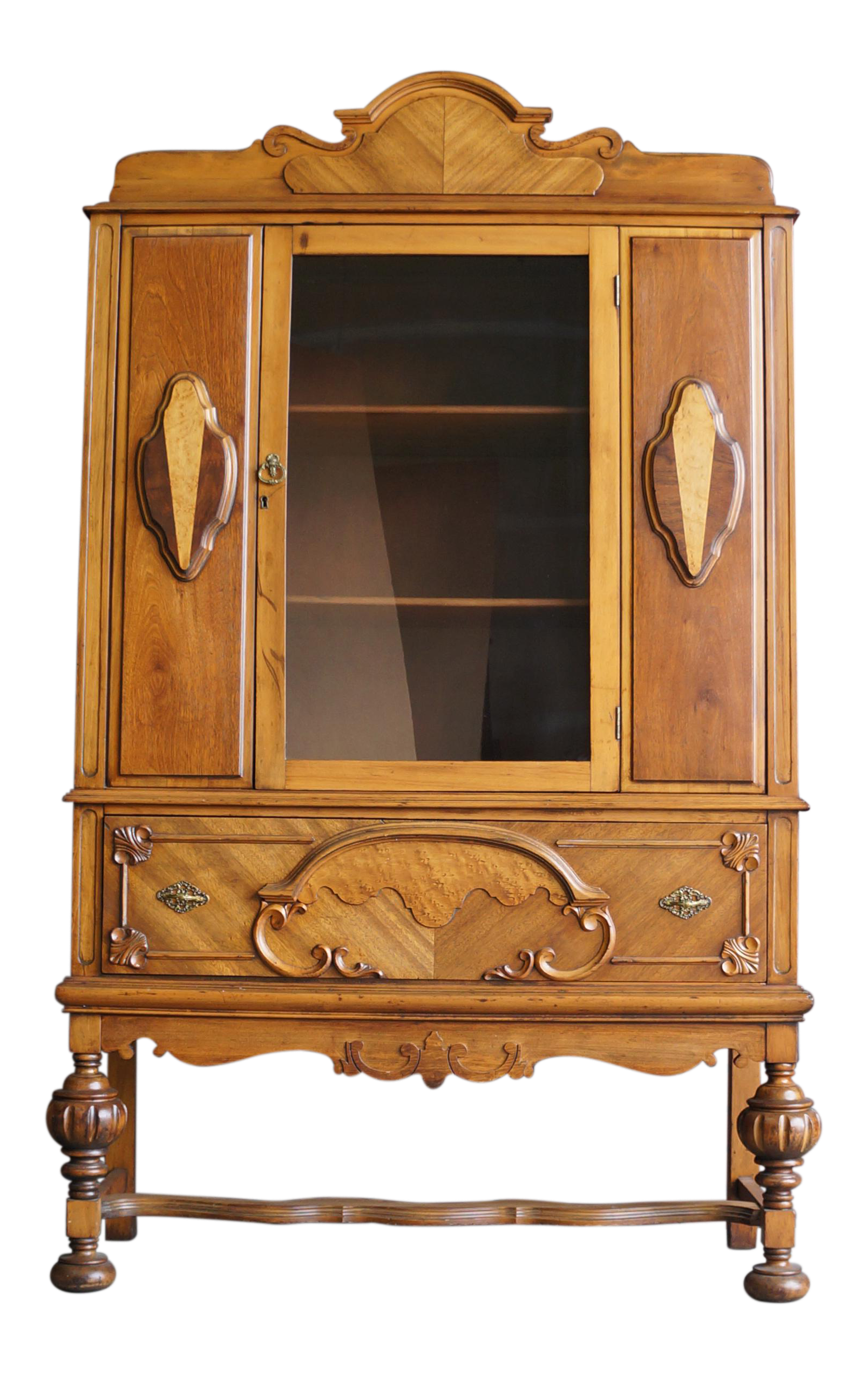 wood glass catalog china aptdeco frame curved oak display antique cabinet