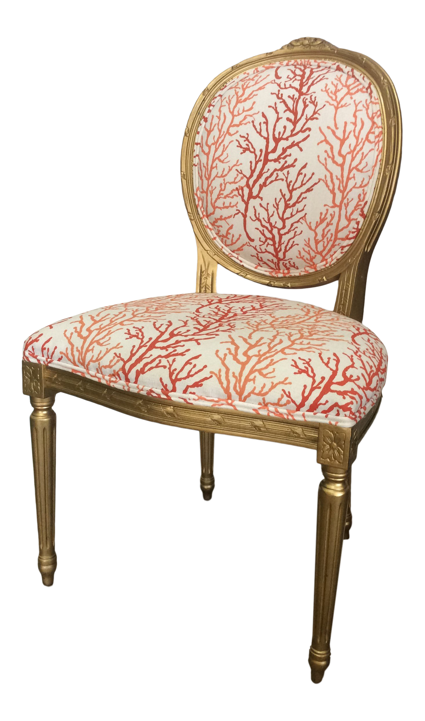 Cool 1970S Vintage Louis Coral Accent Chair Evergreenethics Interior Chair Design Evergreenethicsorg