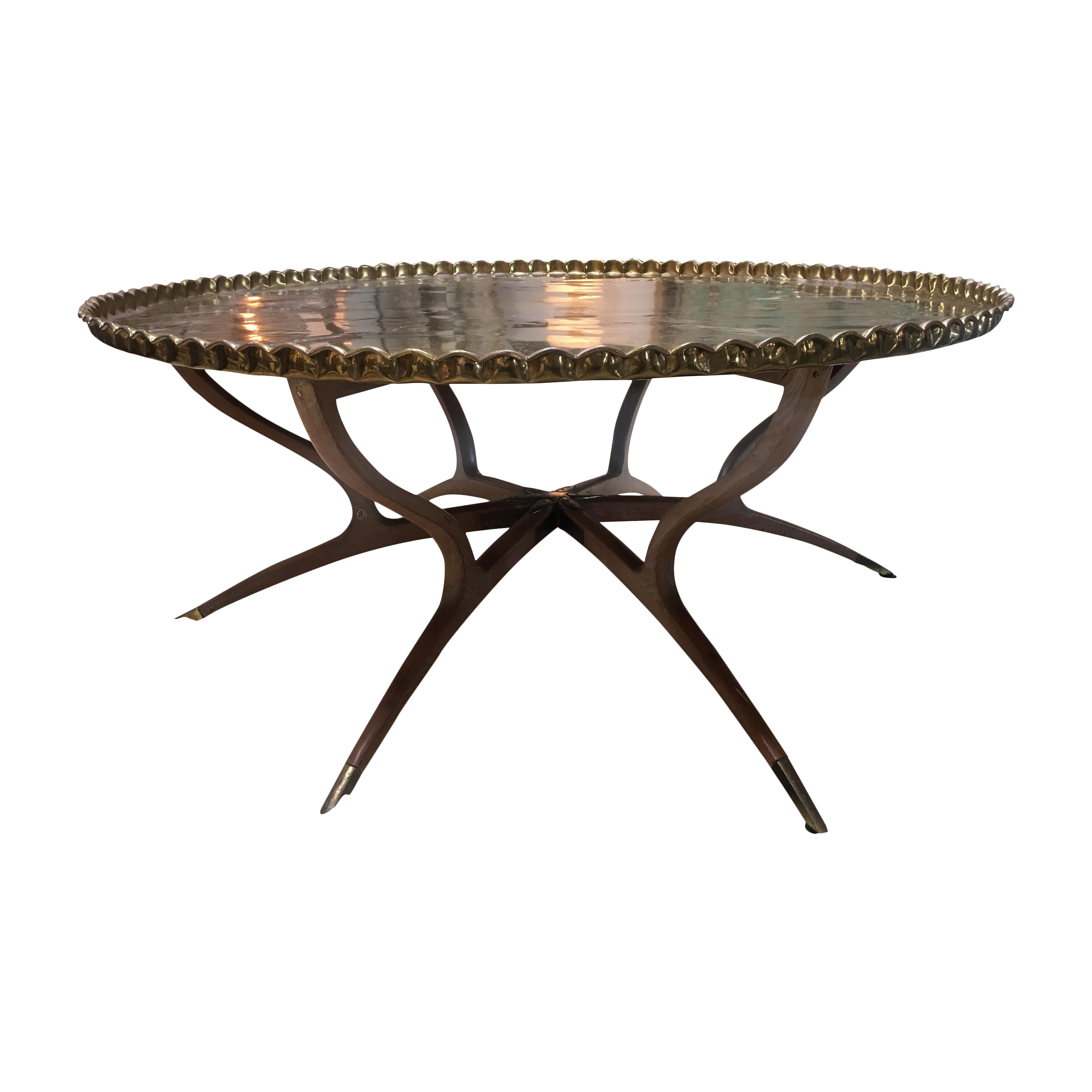 Moroccan brass top table chairish for Table 6 handbook 44