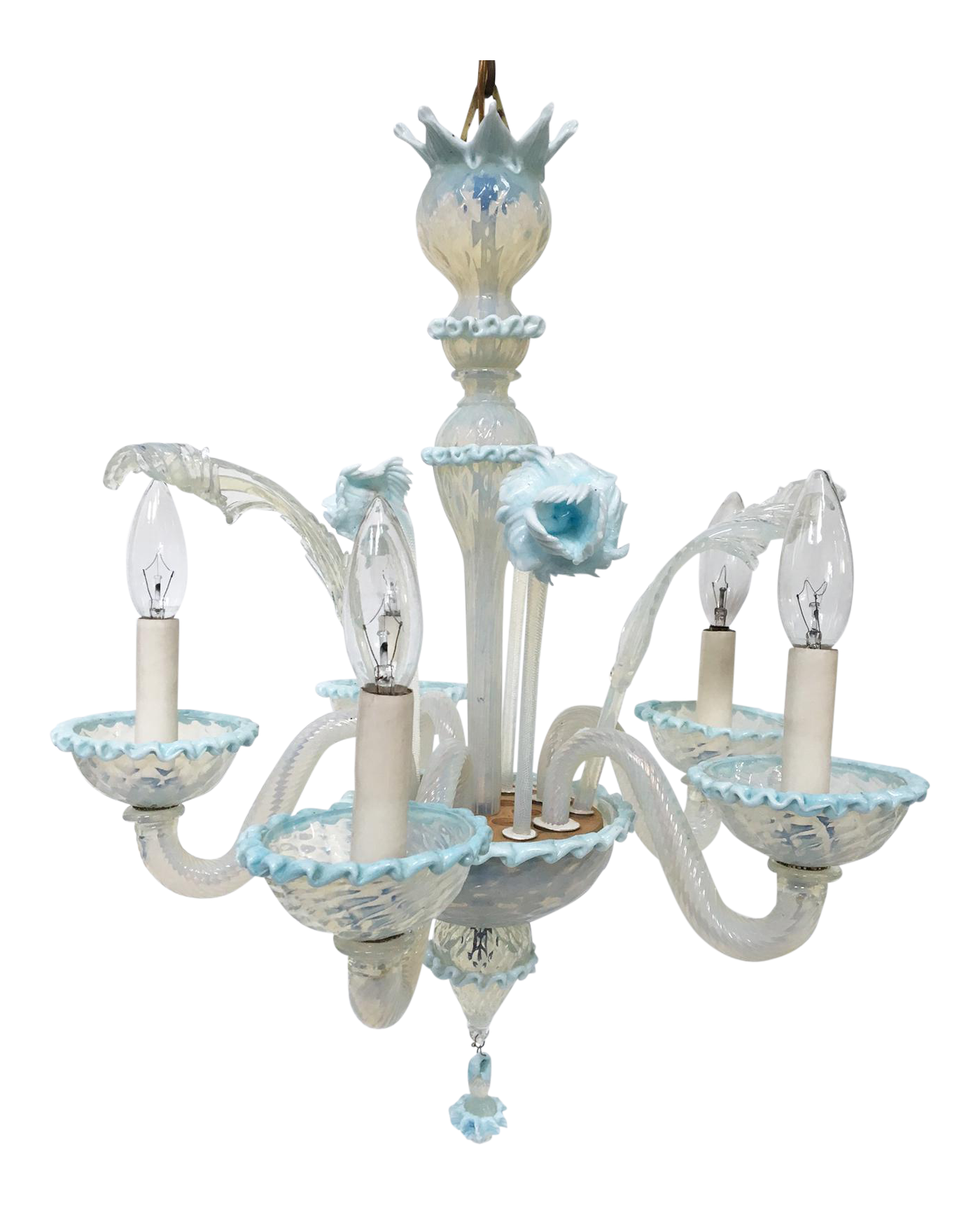 Venetian style murano hand blown art glass chandelier for Kitchen cabinet trends 2018 combined with hand blown glass wall art