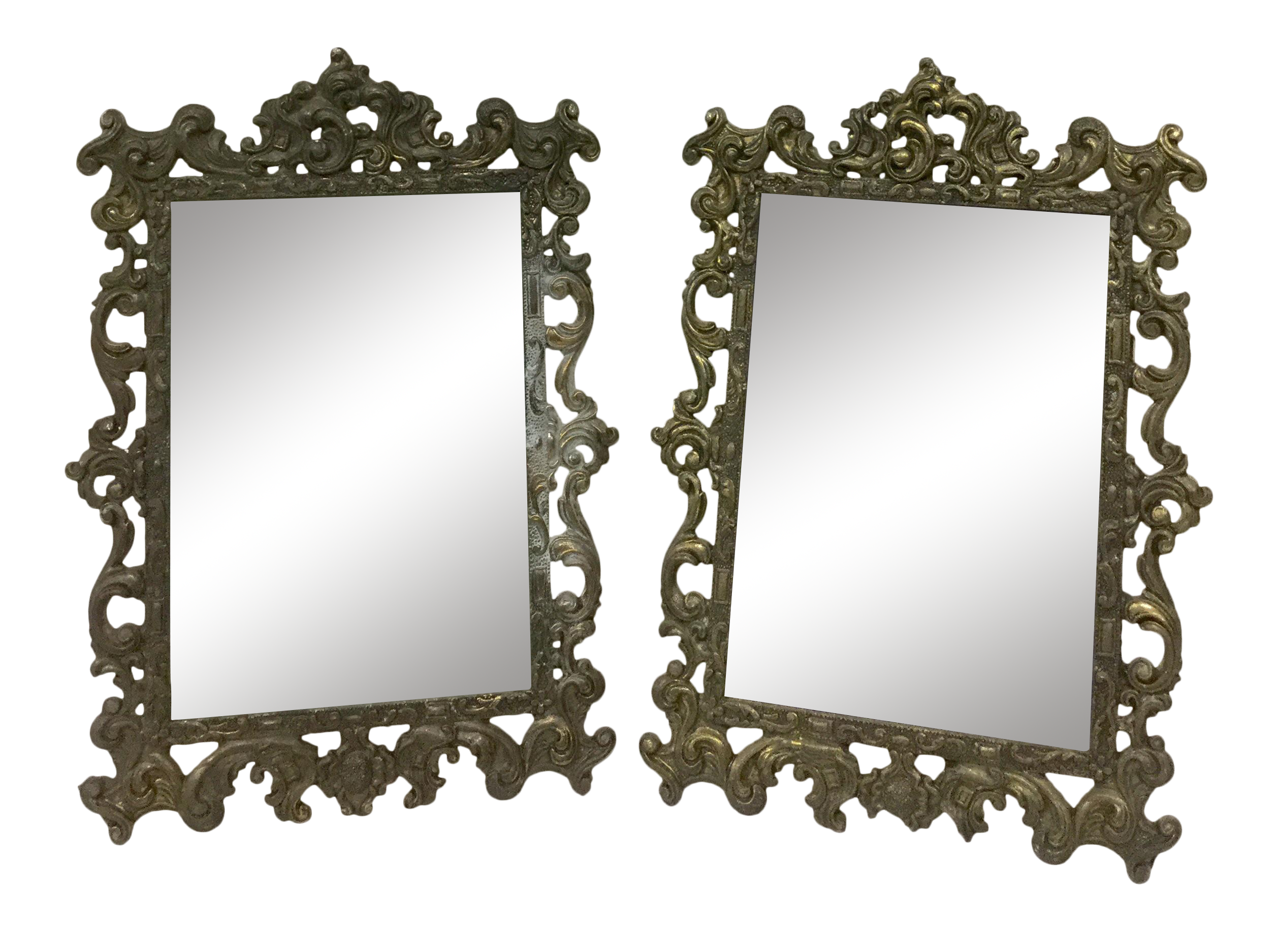 Italian metalwork photo frames a pair chairish jeuxipadfo Image collections