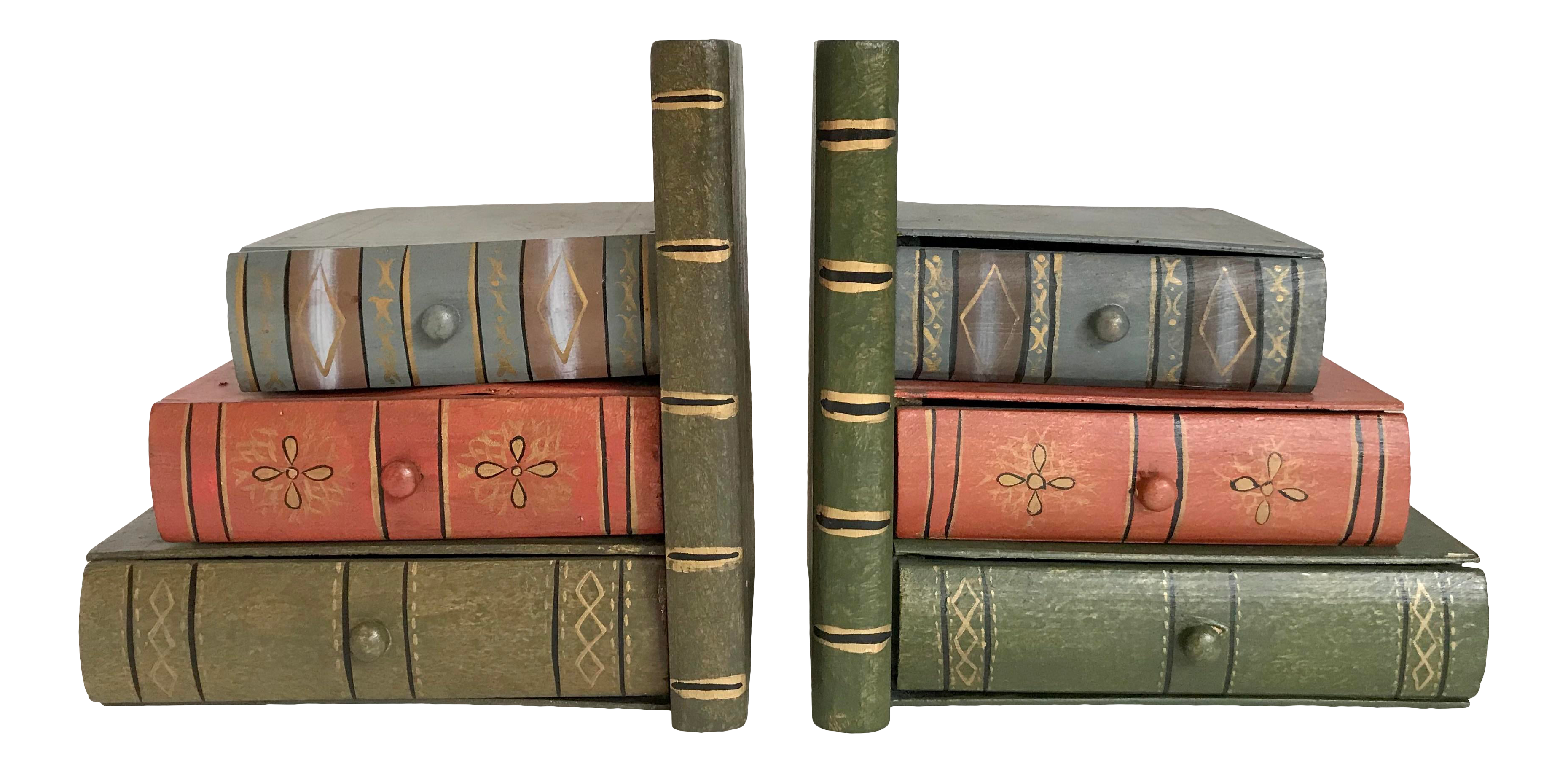 2 Antique Gold Hand Bookend Home Shelve Art Decor Book Stand Ornament Display