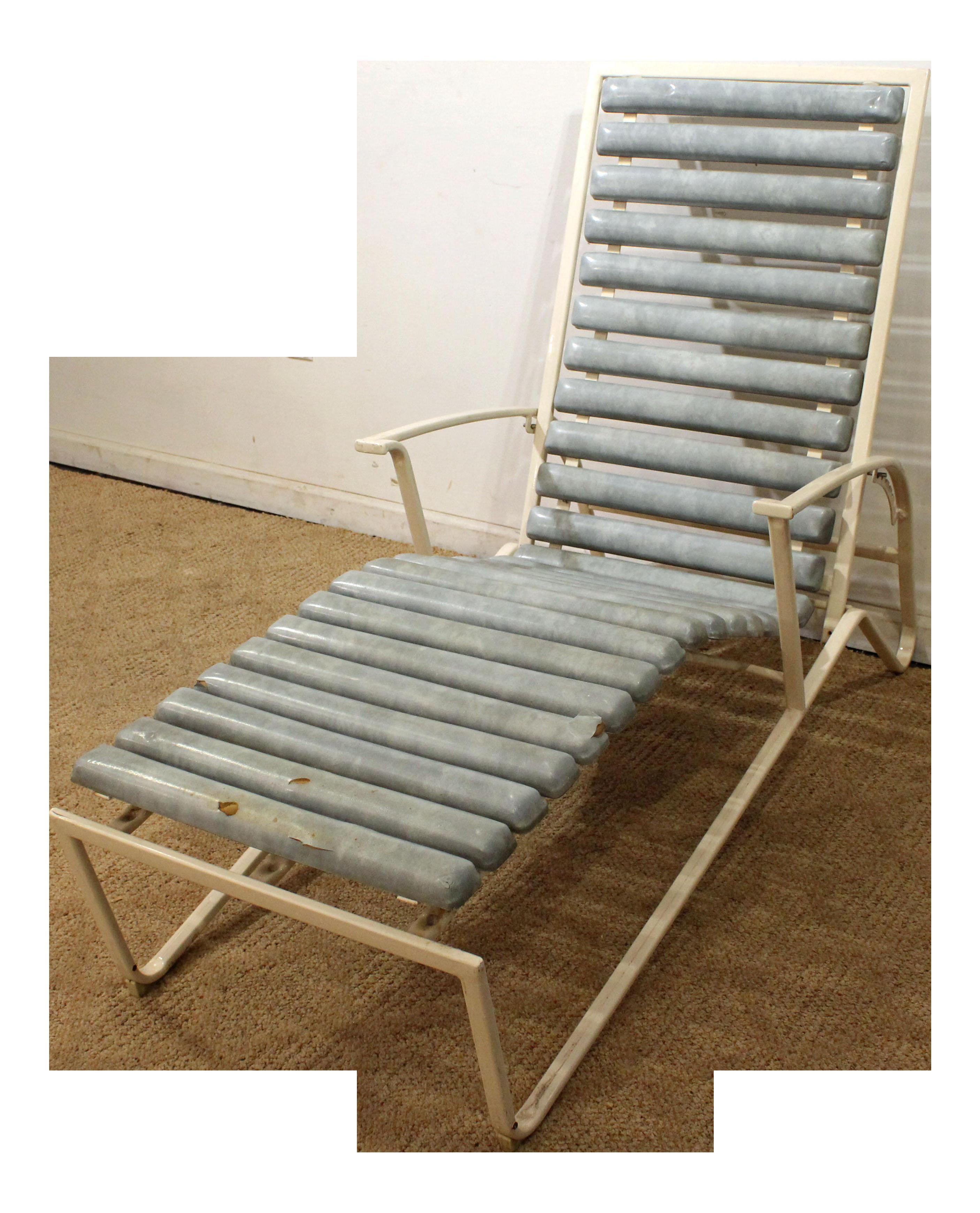 Mid century danish modern samsonite outdoor patio metal lounge chair chairish