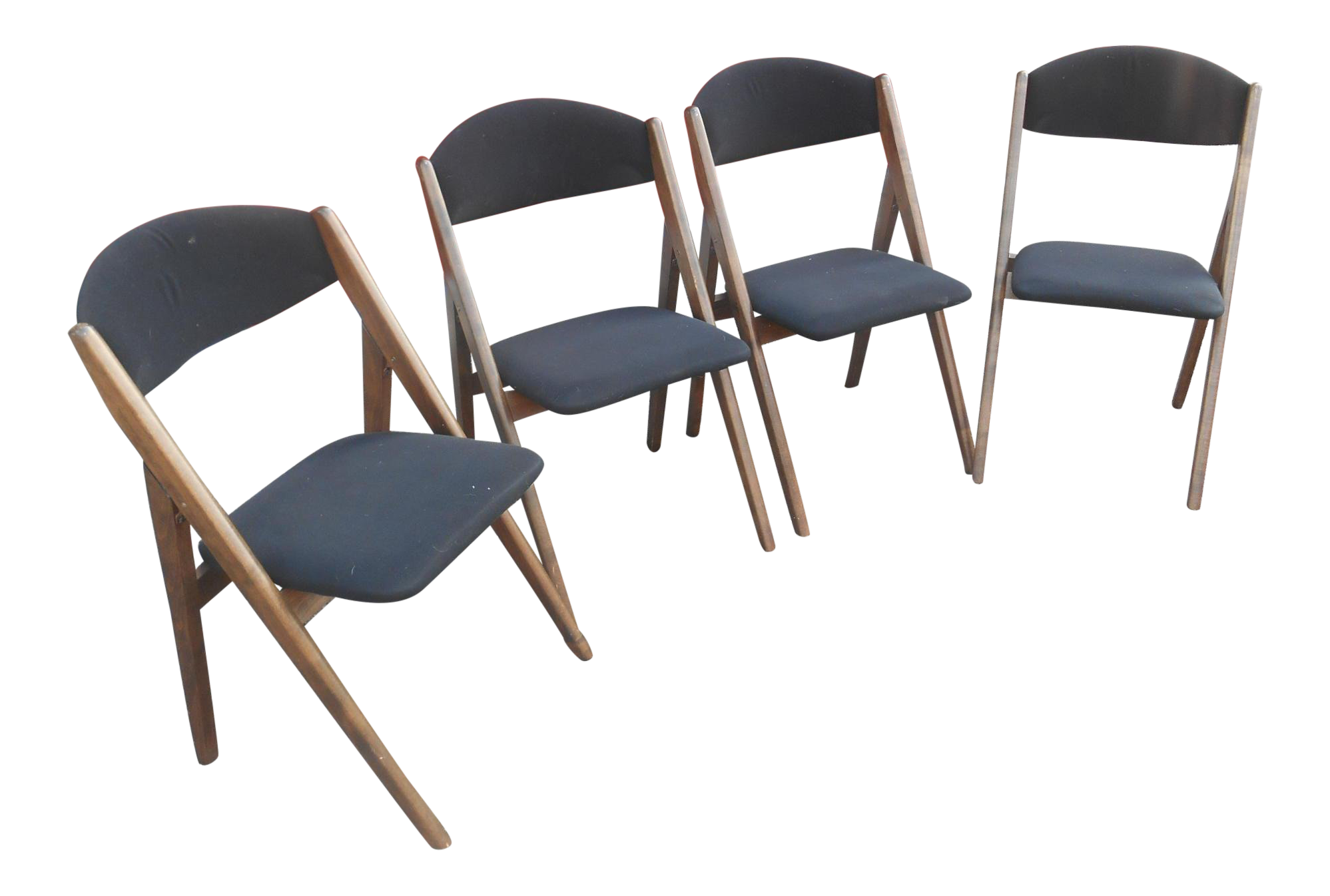 Surprising 1960S Mid Century Modern Stackmore Black Velvet Dining Chairs Set Of 4 Gmtry Best Dining Table And Chair Ideas Images Gmtryco