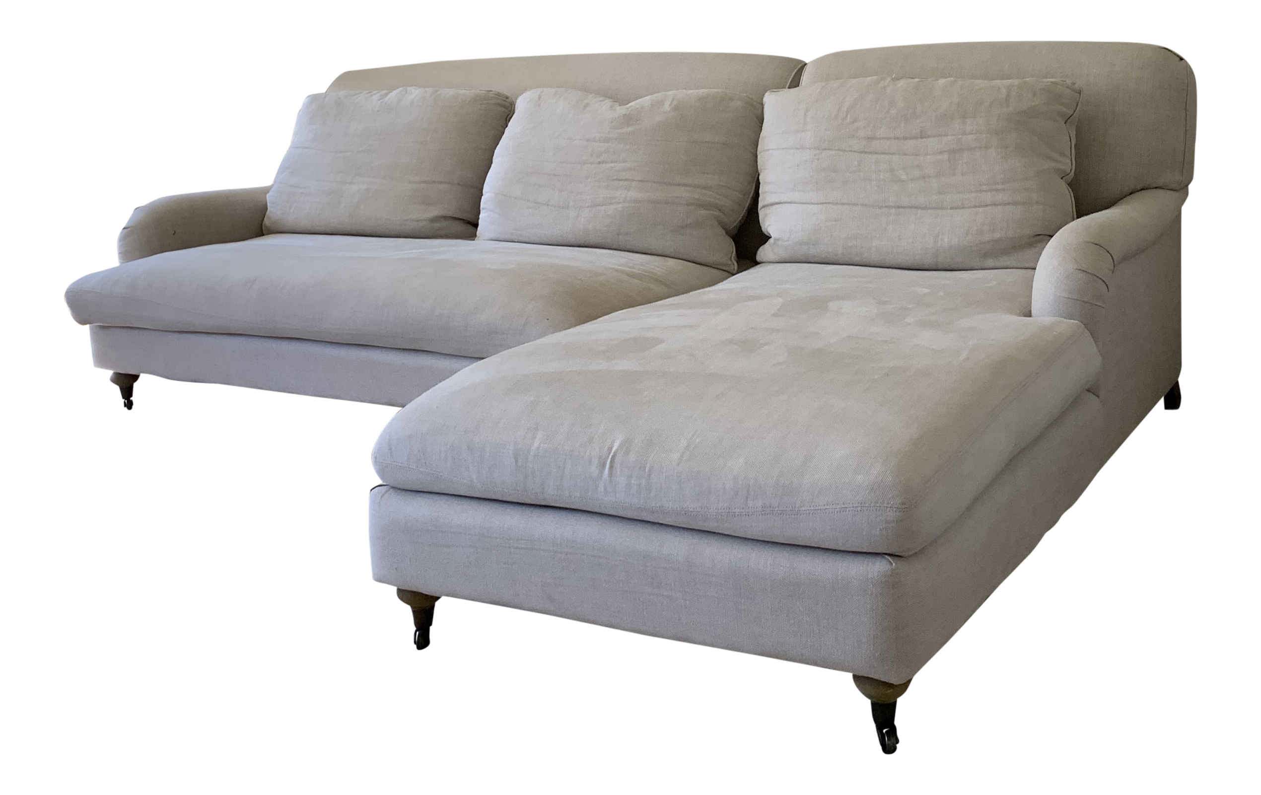 Amazing Restoration Hardware Modern Linen Sectional Sofa Caraccident5 Cool Chair Designs And Ideas Caraccident5Info