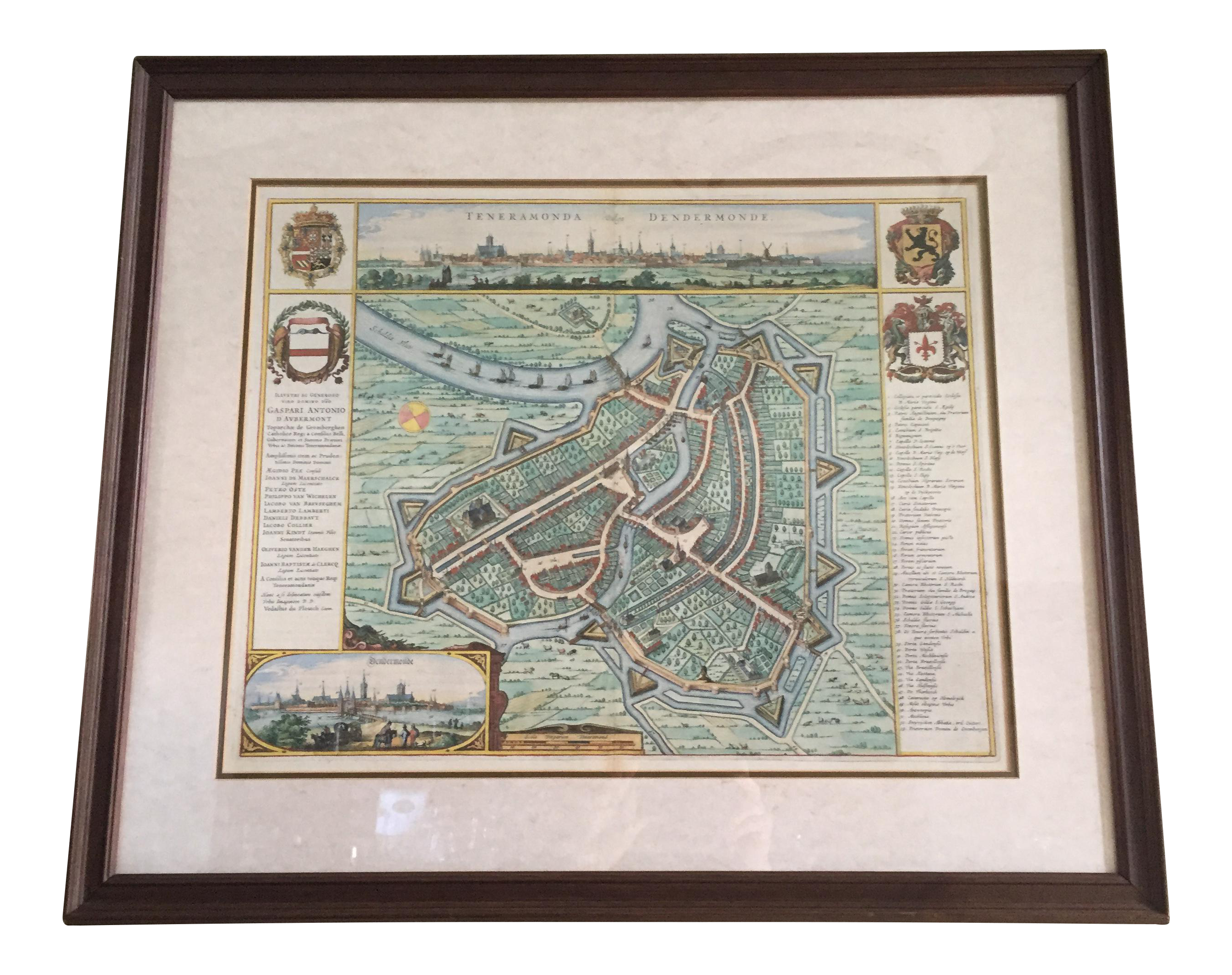 Framed map of belgium city chairish for Kitchen cabinet trends 2018 combined with city map wall art