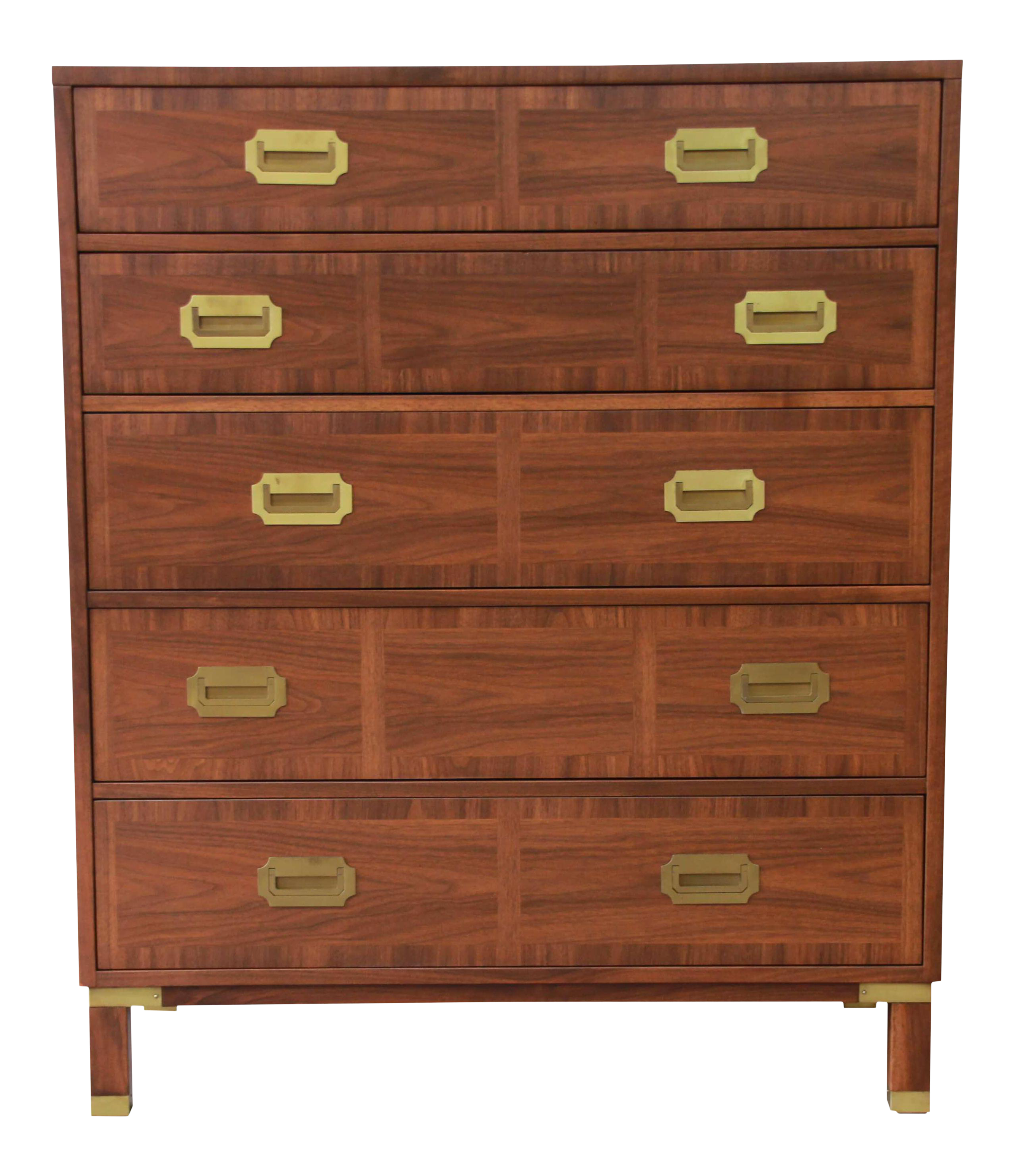 Incredible Baker Furniture Milling Road Campaign Style Highboy Dresser Decaso