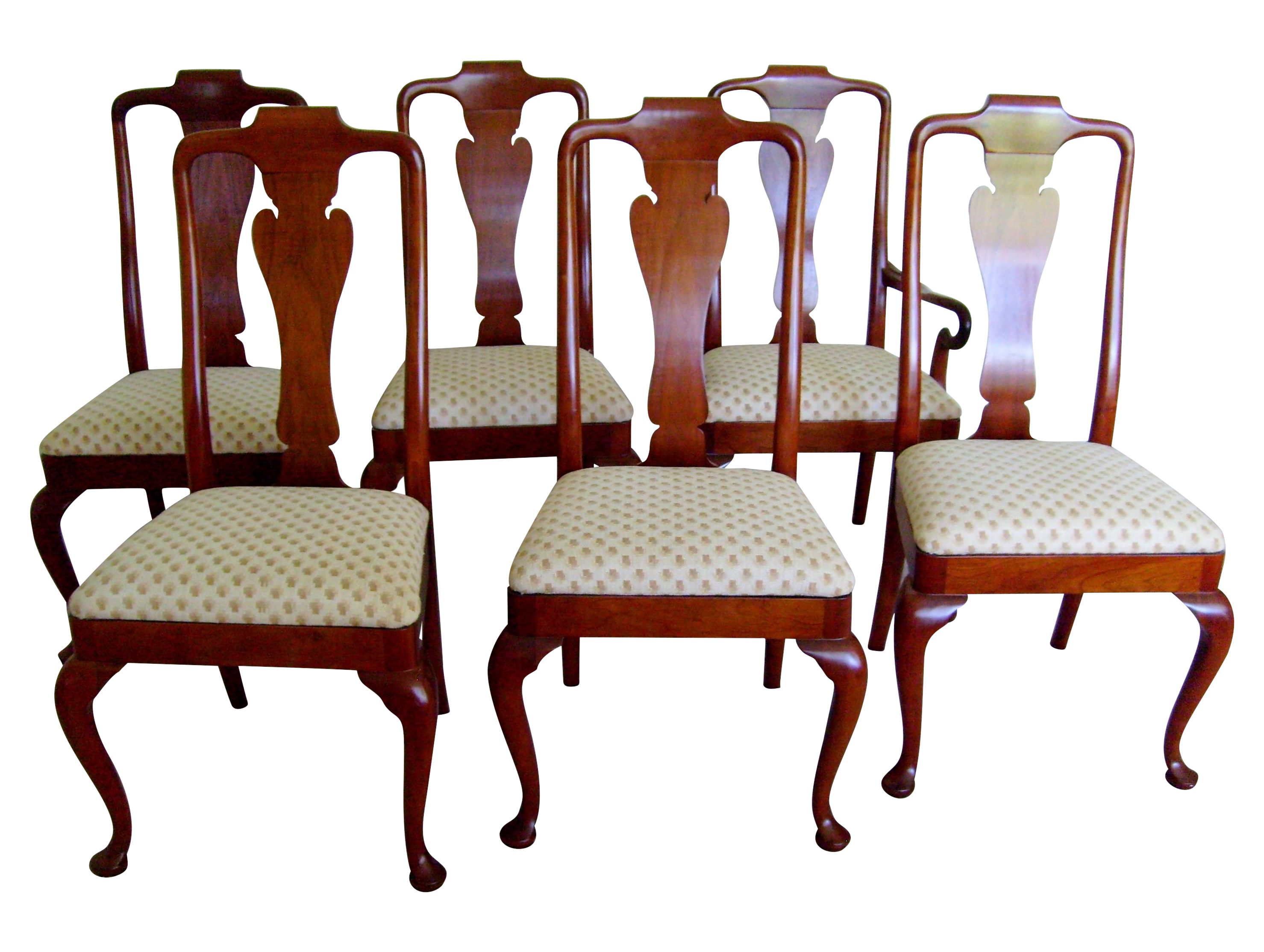 sc 1 st  Chairish & Queen Anne Style Dining Chairs by Baker - Set of 6 | Chairish