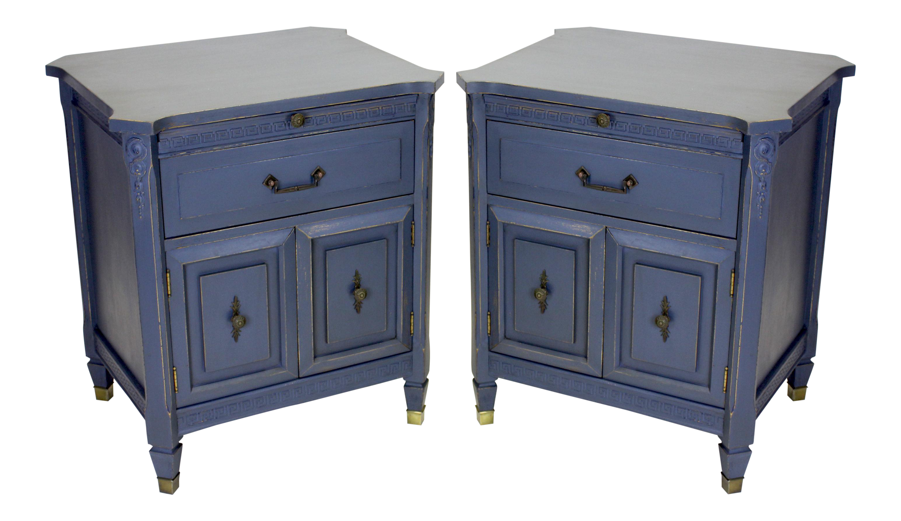 Mid century neoclassical style nightstands a pair chairish for 0co om cca 9 source table
