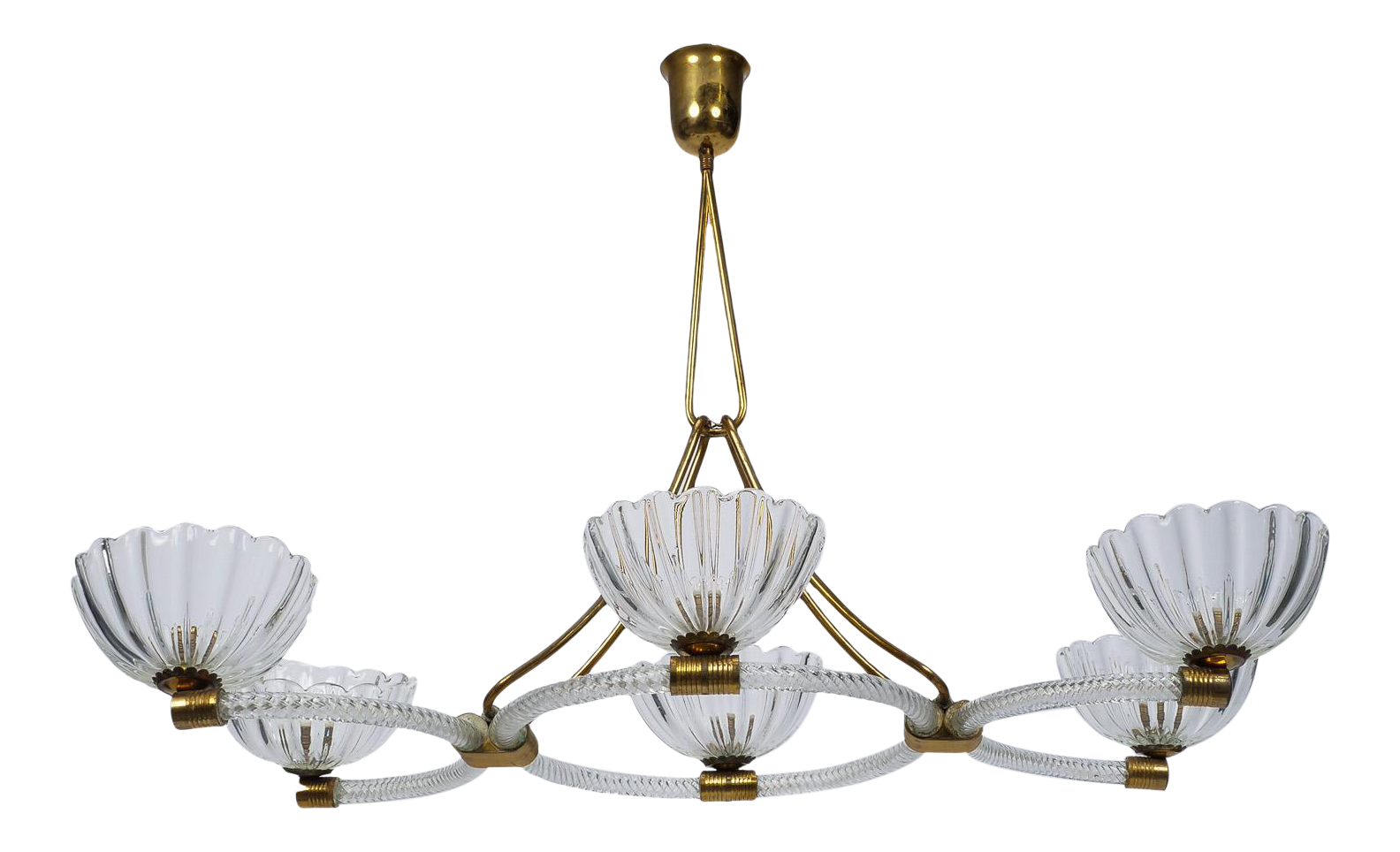 Excellent extra large ercole barovier art deco six light chandelier excellent extra large ercole barovier art deco six light chandelier decaso arubaitofo Choice Image