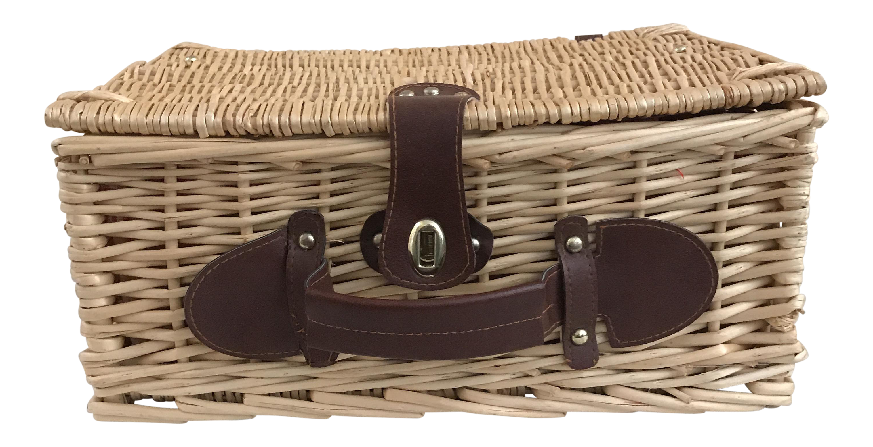 Picnic Baskets For 4 Ireland : Wicker lined picnic basket chairish