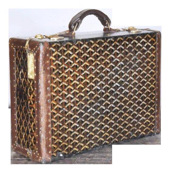 4bf290d0b 19th Century Traditional Goyard Suitcase | Chairish