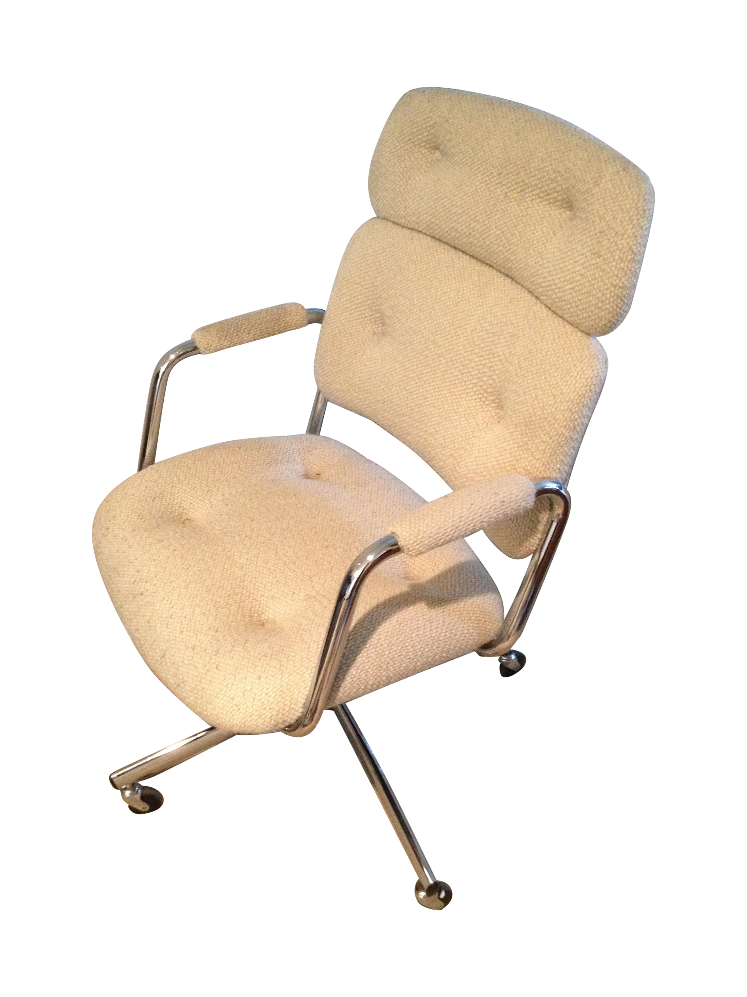 mid century vintage steelcase swivel office chair chairish