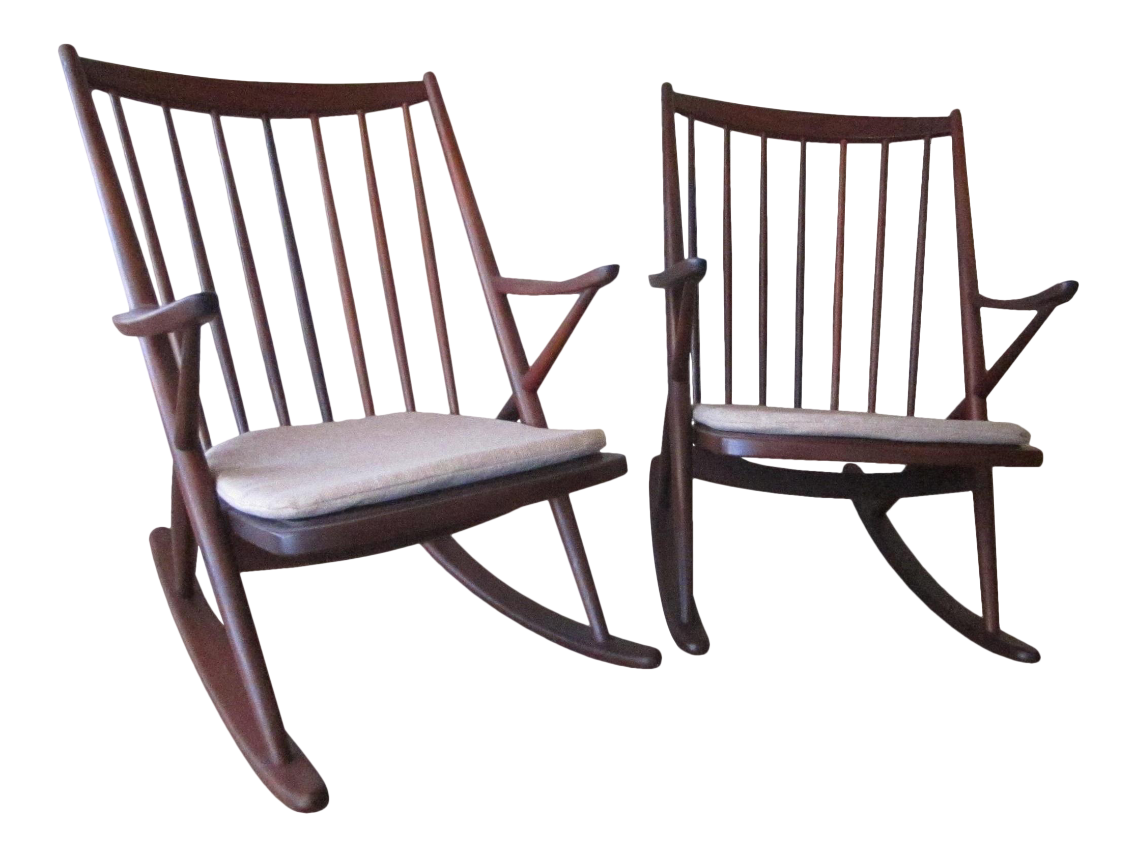 Frank Reenskaug For Bramin Mobler Danish Rocking Chairs   A Pair | Chairish