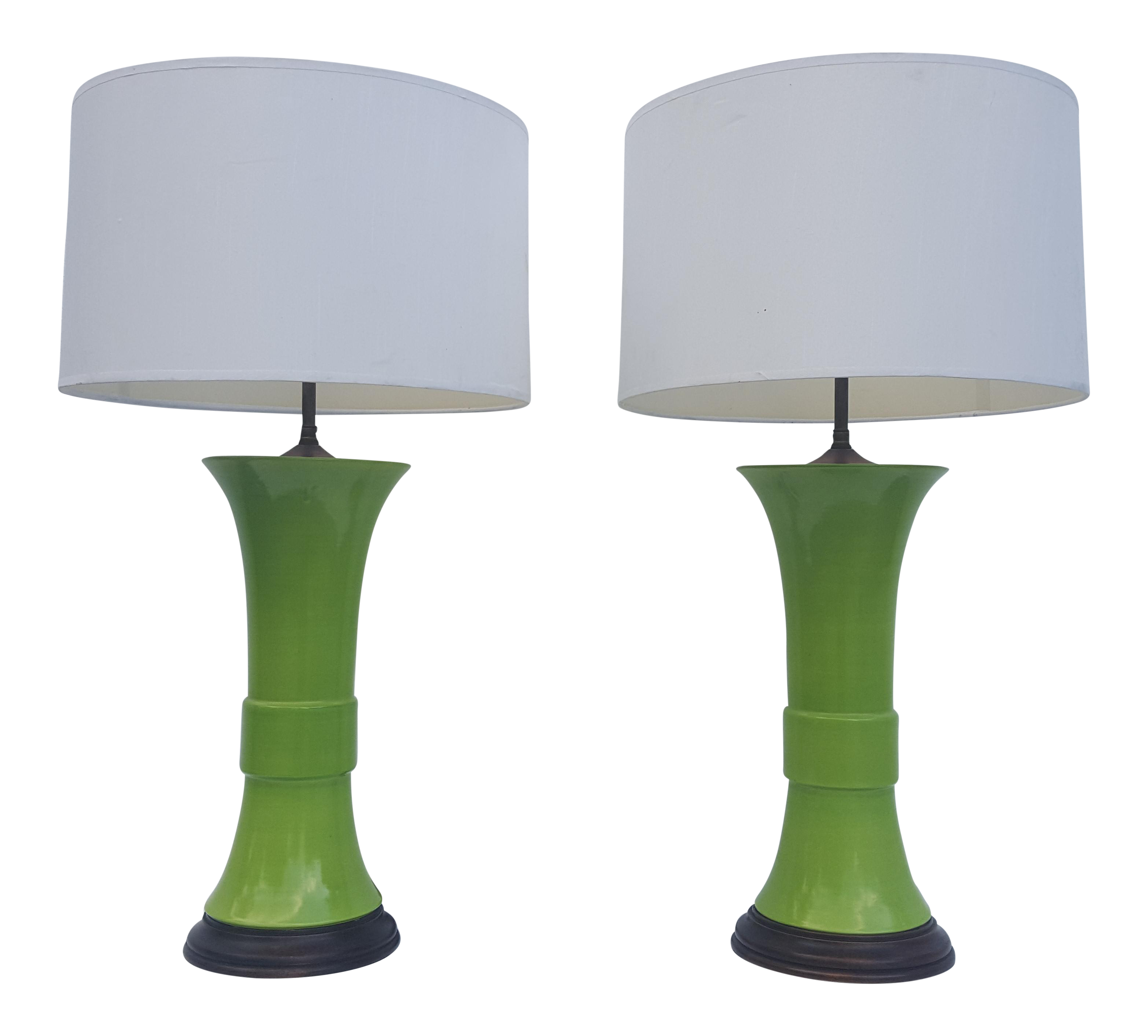 lamps with by glass in table shade for green erpe made lamp library