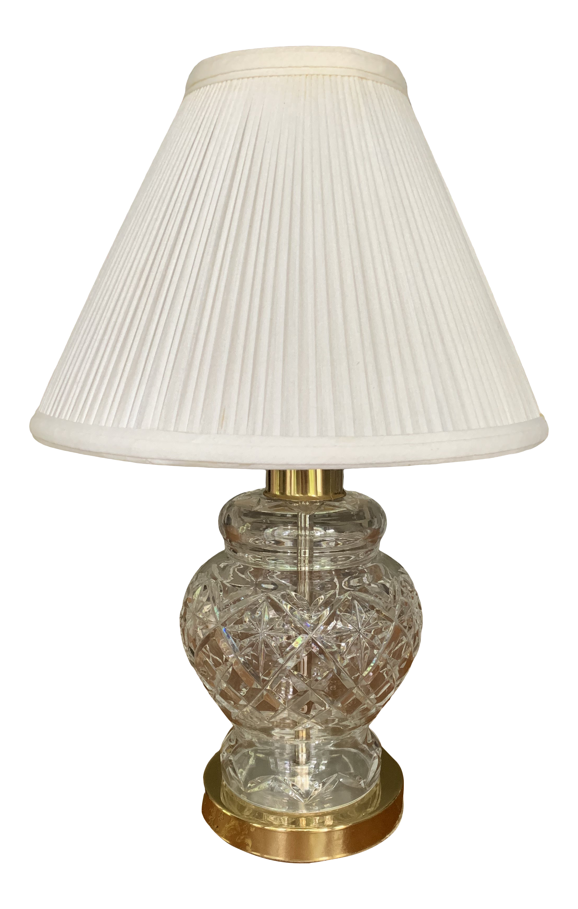 Vintage Waterford Crystal Lamp With, Waterford Crystal Table Lamp Shades
