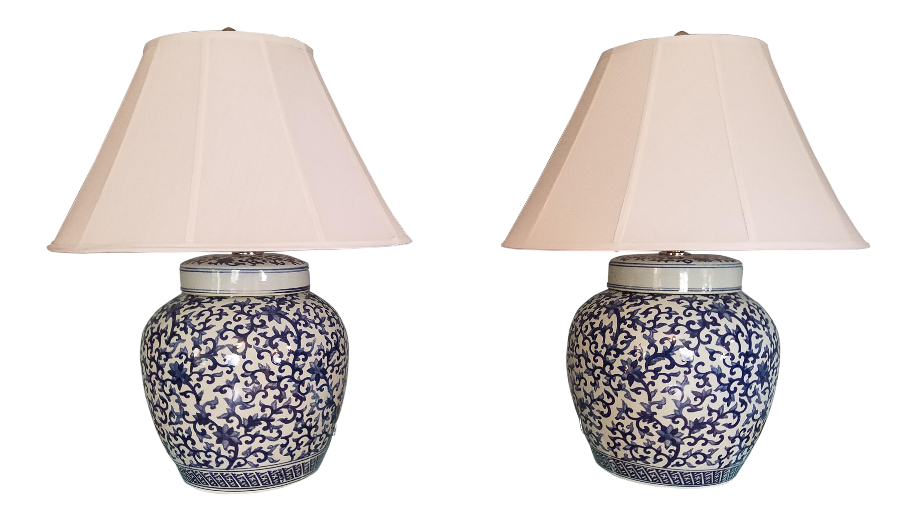 Ralph Lauren Asian Blue And White Ginger Jar Table Lamps A Pair Chairish,Baby Shower Decorations Girl Elephant