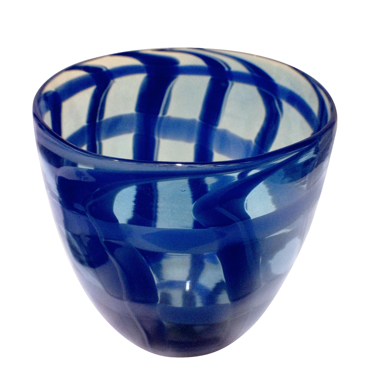 Reticello style hand blown art glass vase chairish for Kitchen cabinet trends 2018 combined with hand blown glass wall art