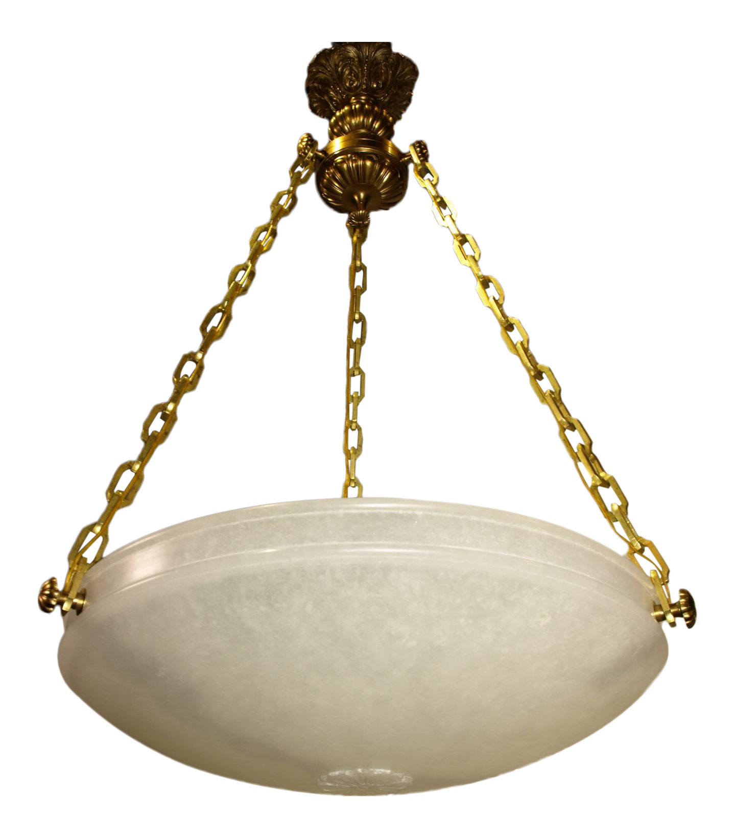 High End Antique chandelier Alabaster plafonnier