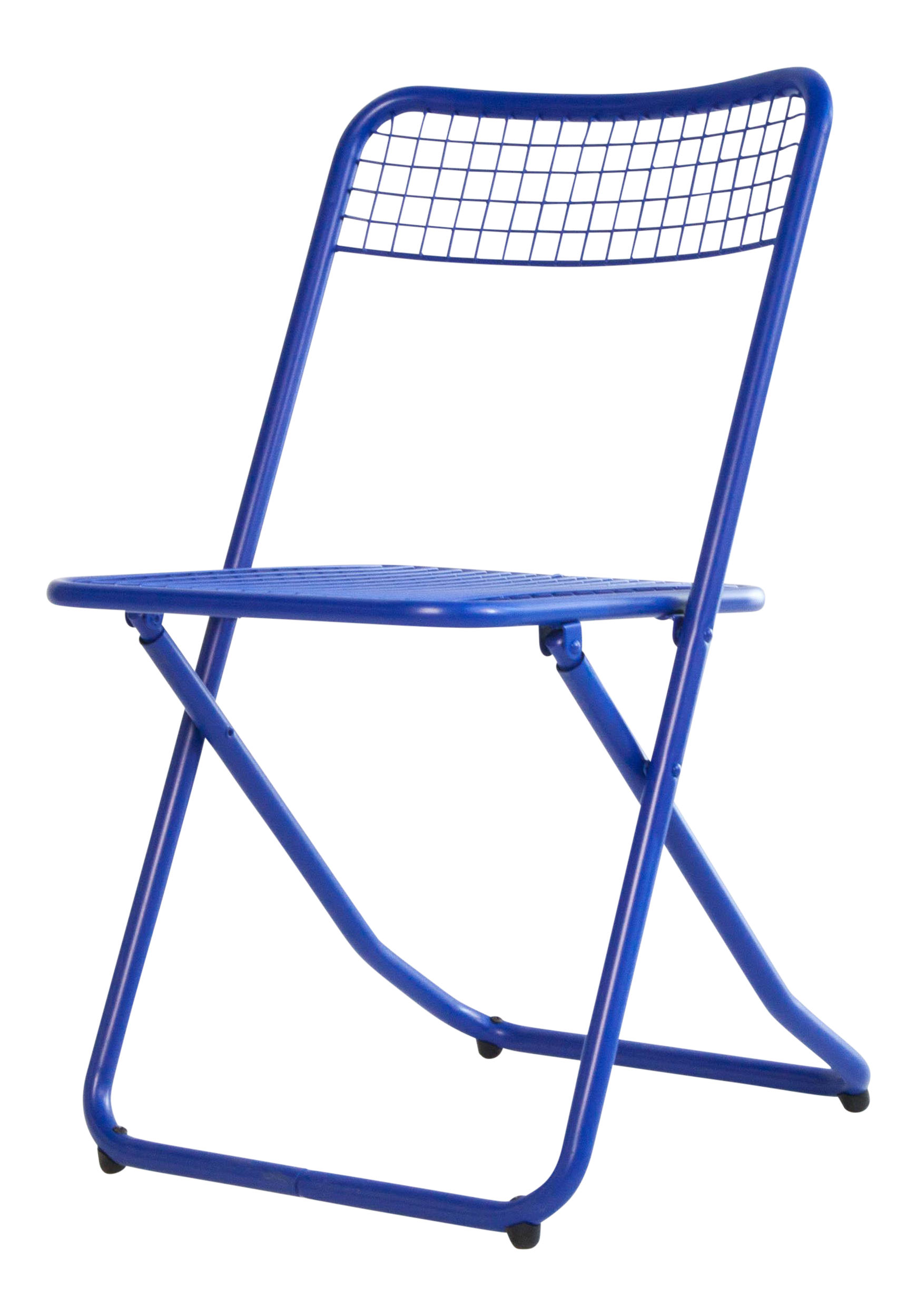 New Blue Cobalt White Metal Folding Chair By Federico Giner For Houtique Chairish