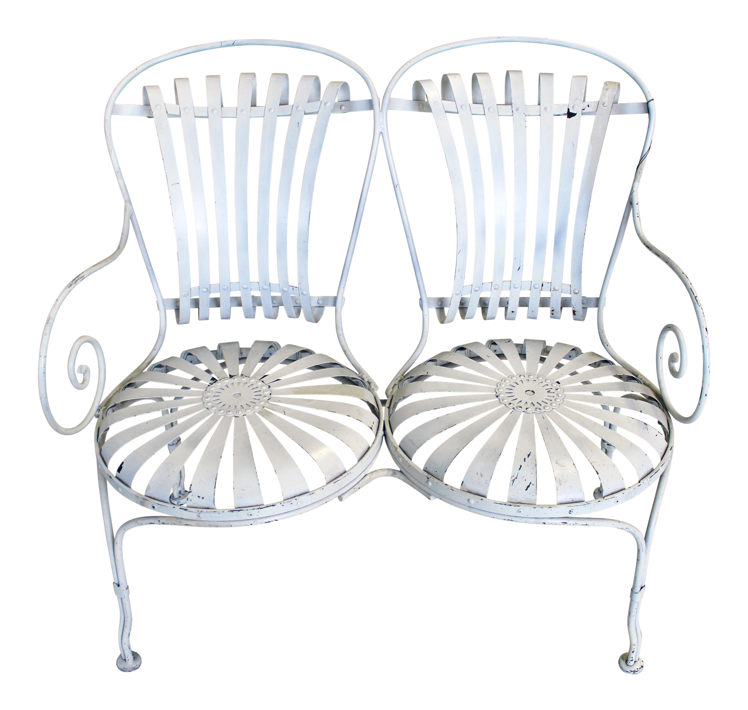 Picture of: Art Deco Garden Bench Chairish
