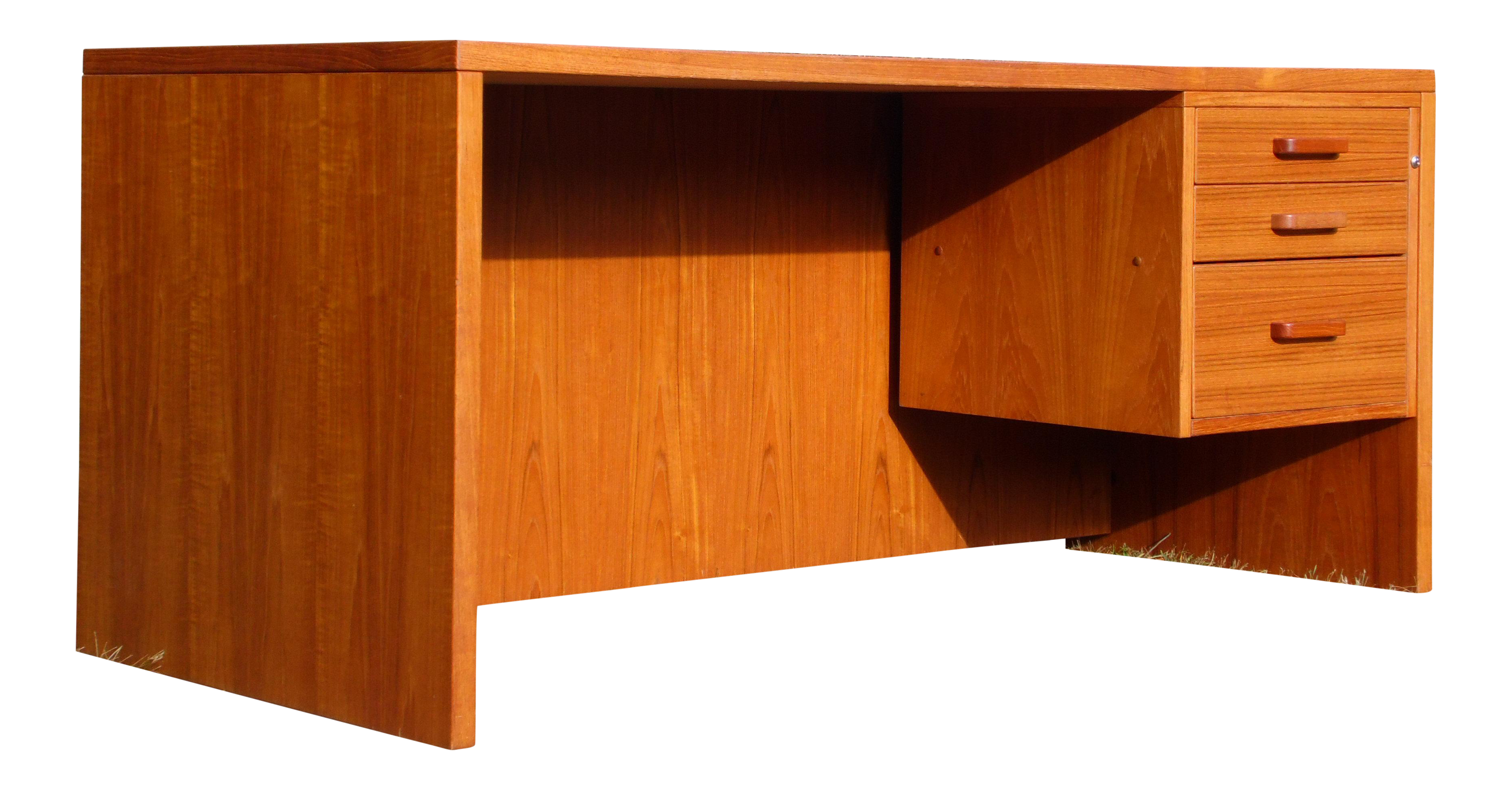 Vintage Mid Century Danish Modern Teak Executive Office Desk Denmark Chairish