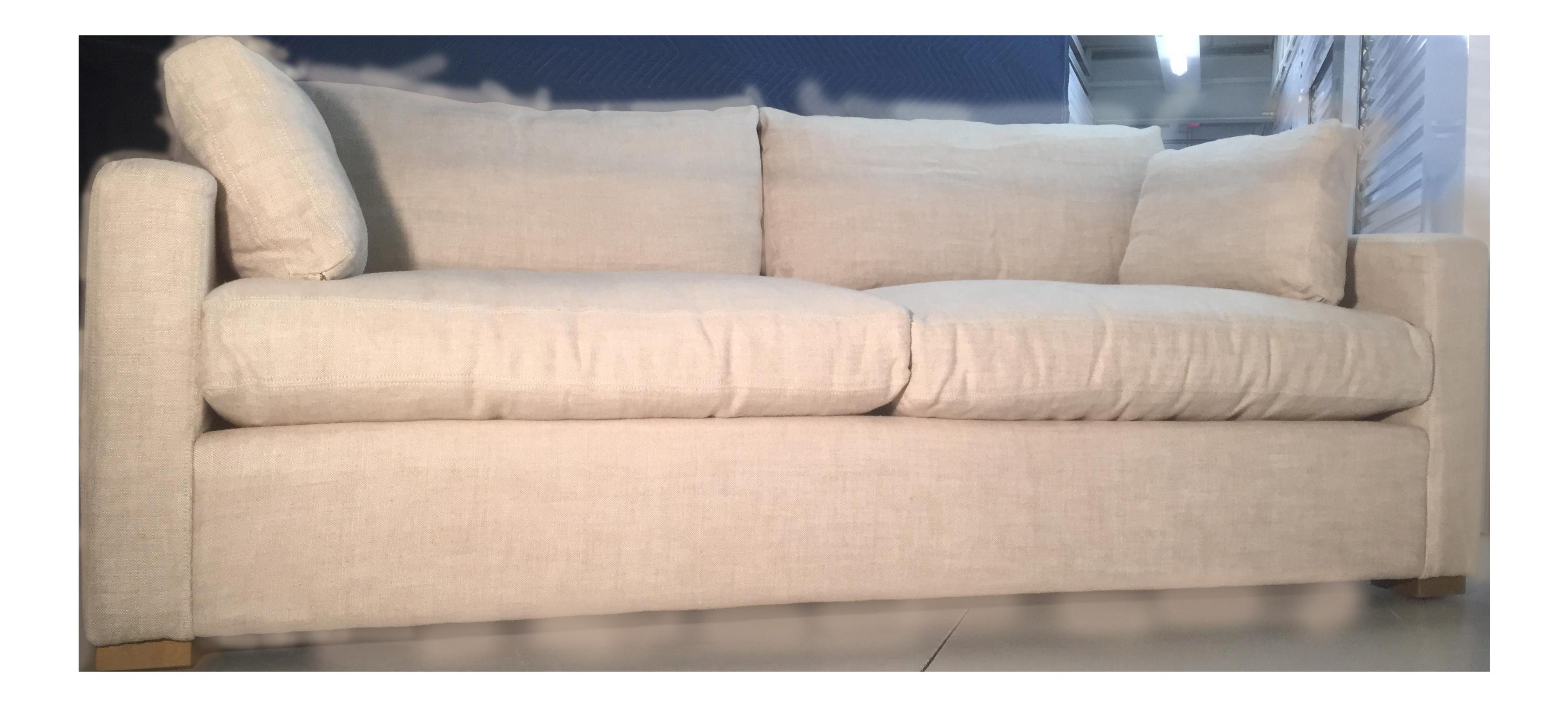 Restoration Hardware Belgian Track Arm Upholstered Down Sofa