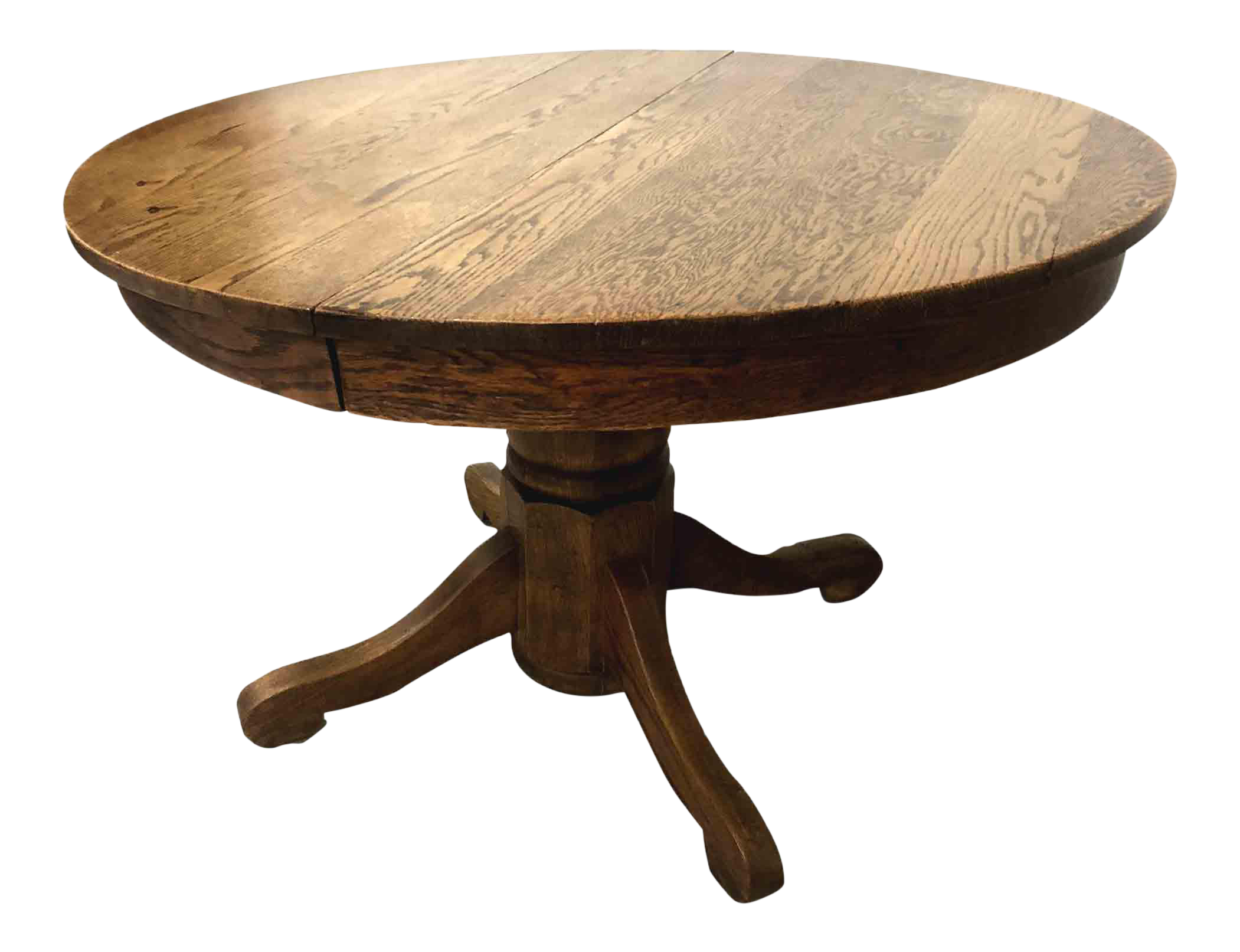 Antique Country Oak Round Pedestal Dining Table Chairish