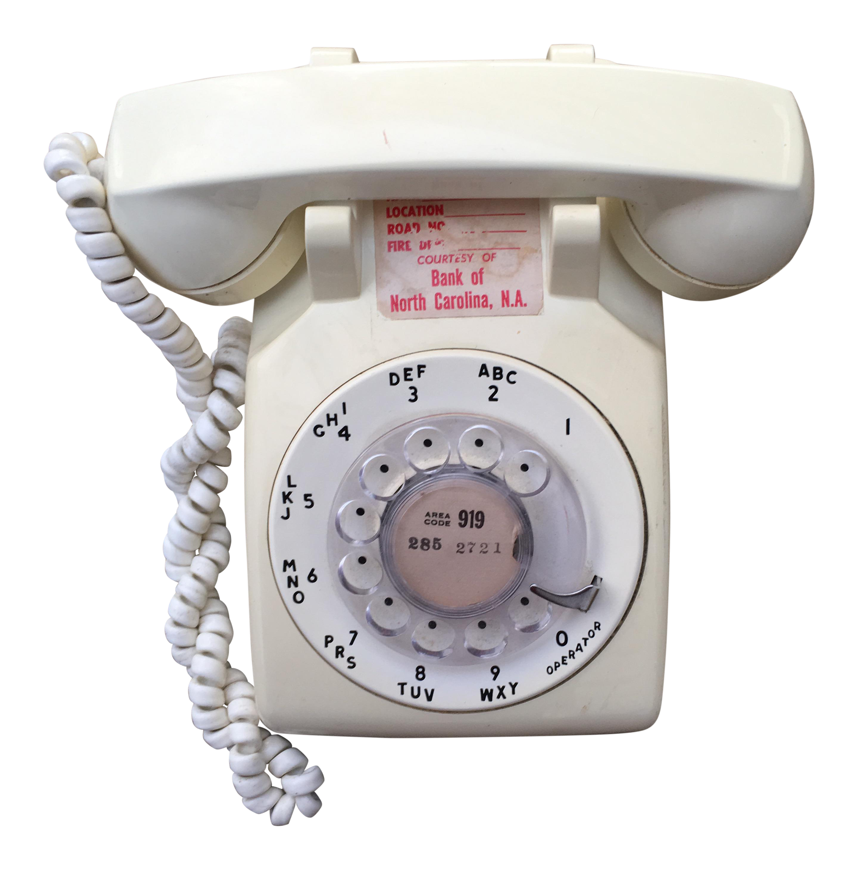 Vintage Cream White Rotary Dial Phone   Chairish