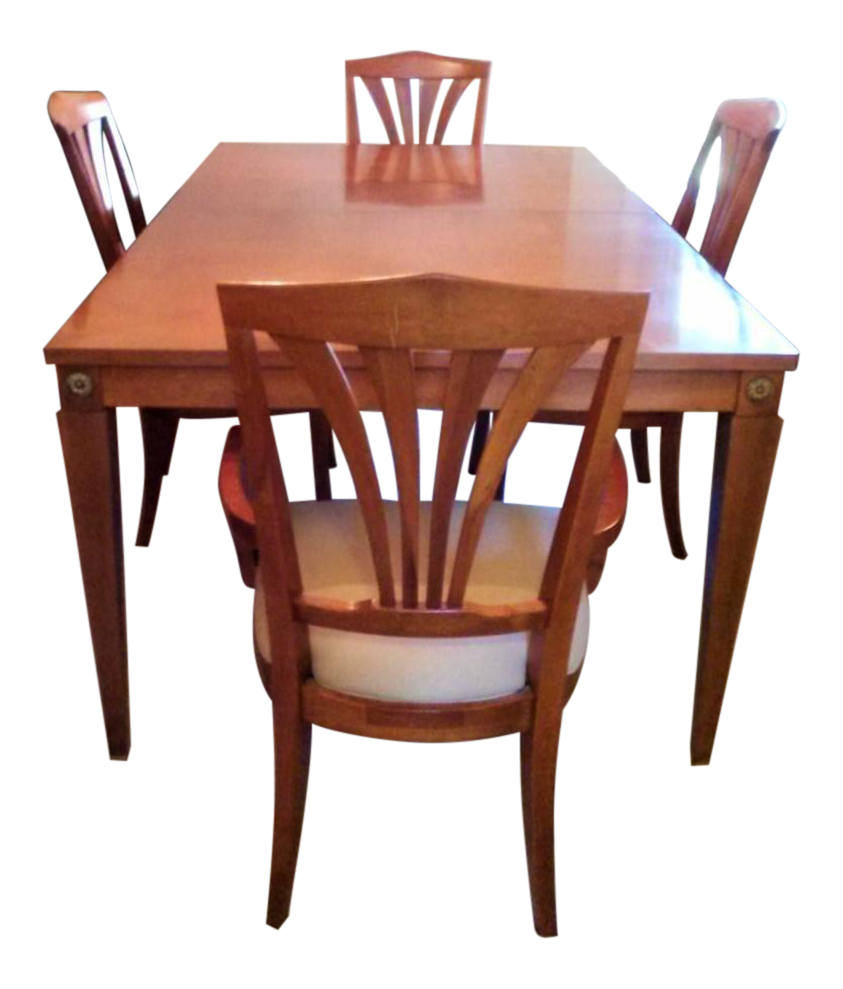 Ethan Allen Dining Room Sets For Sale: Ethan Allen Dining Table With 4 Chairs