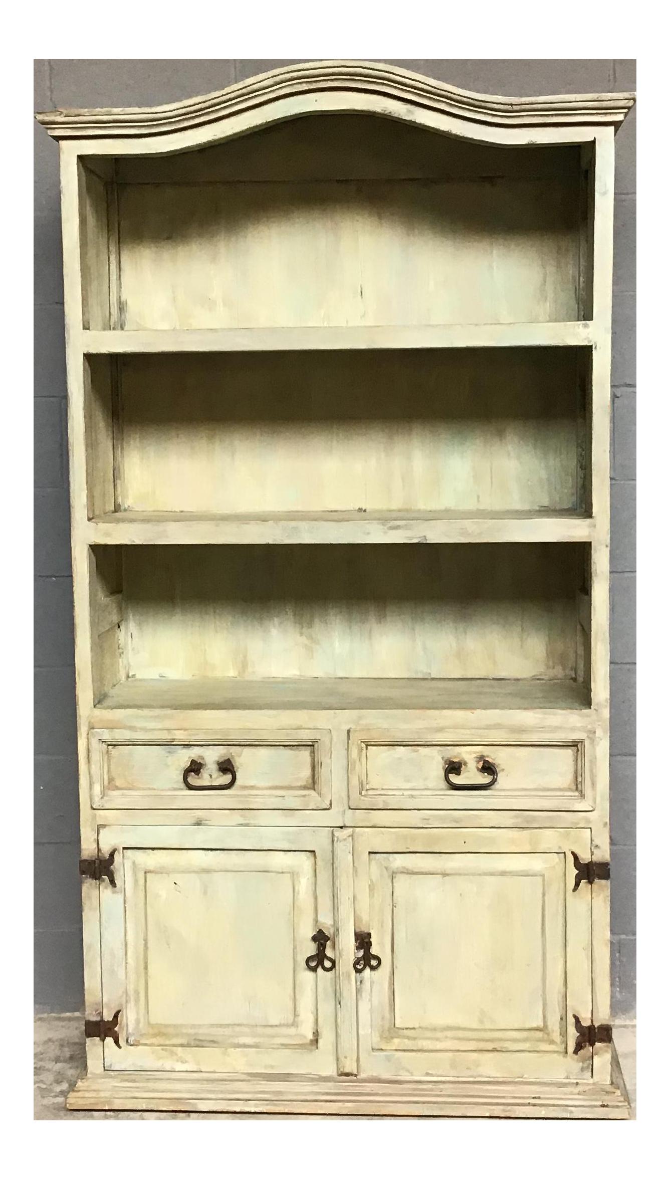 Rustic Farmhouse Painted Hutch