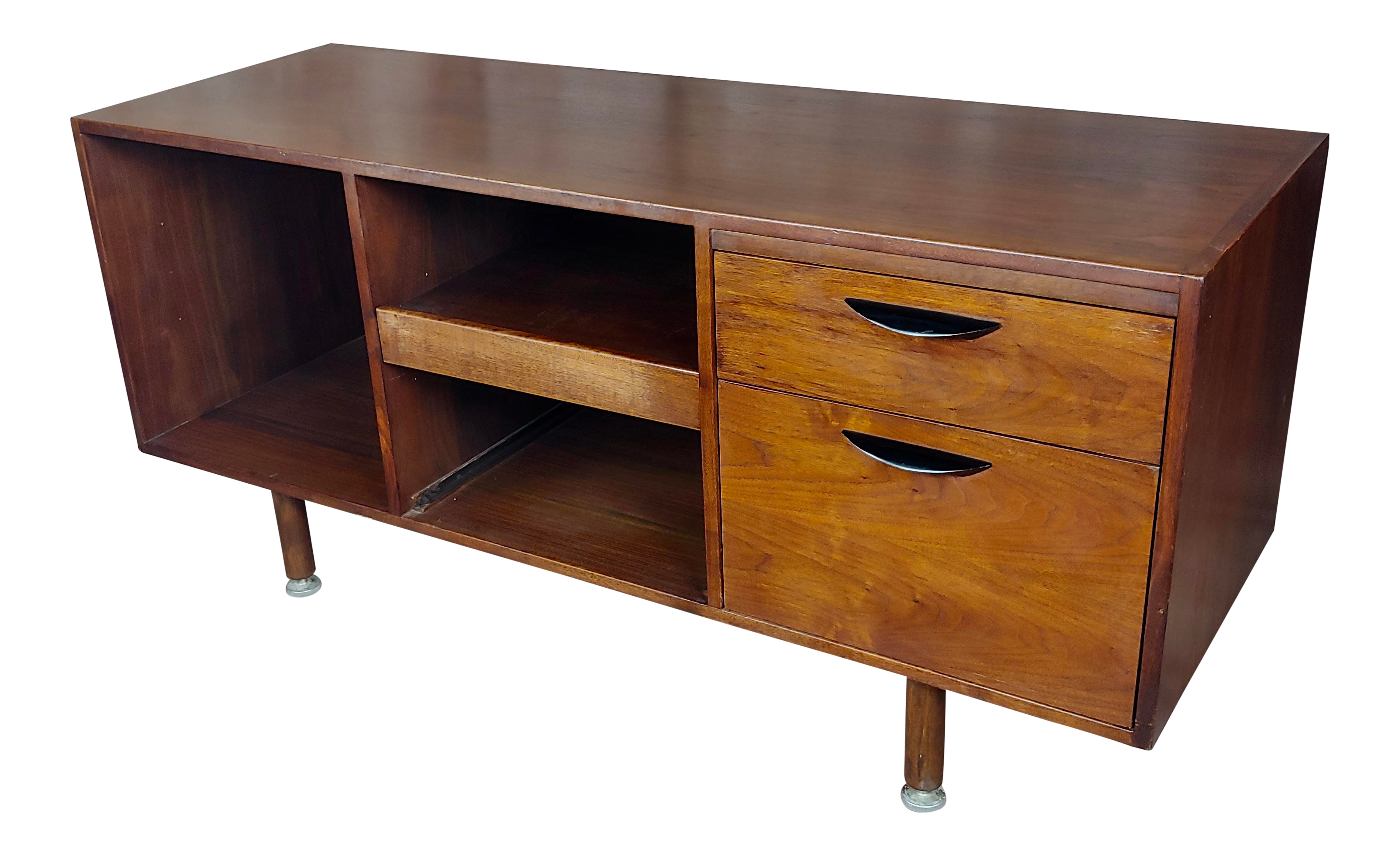 Danish Credenza Los Angeles : High end jens risom danish mid century modern walnut credenza