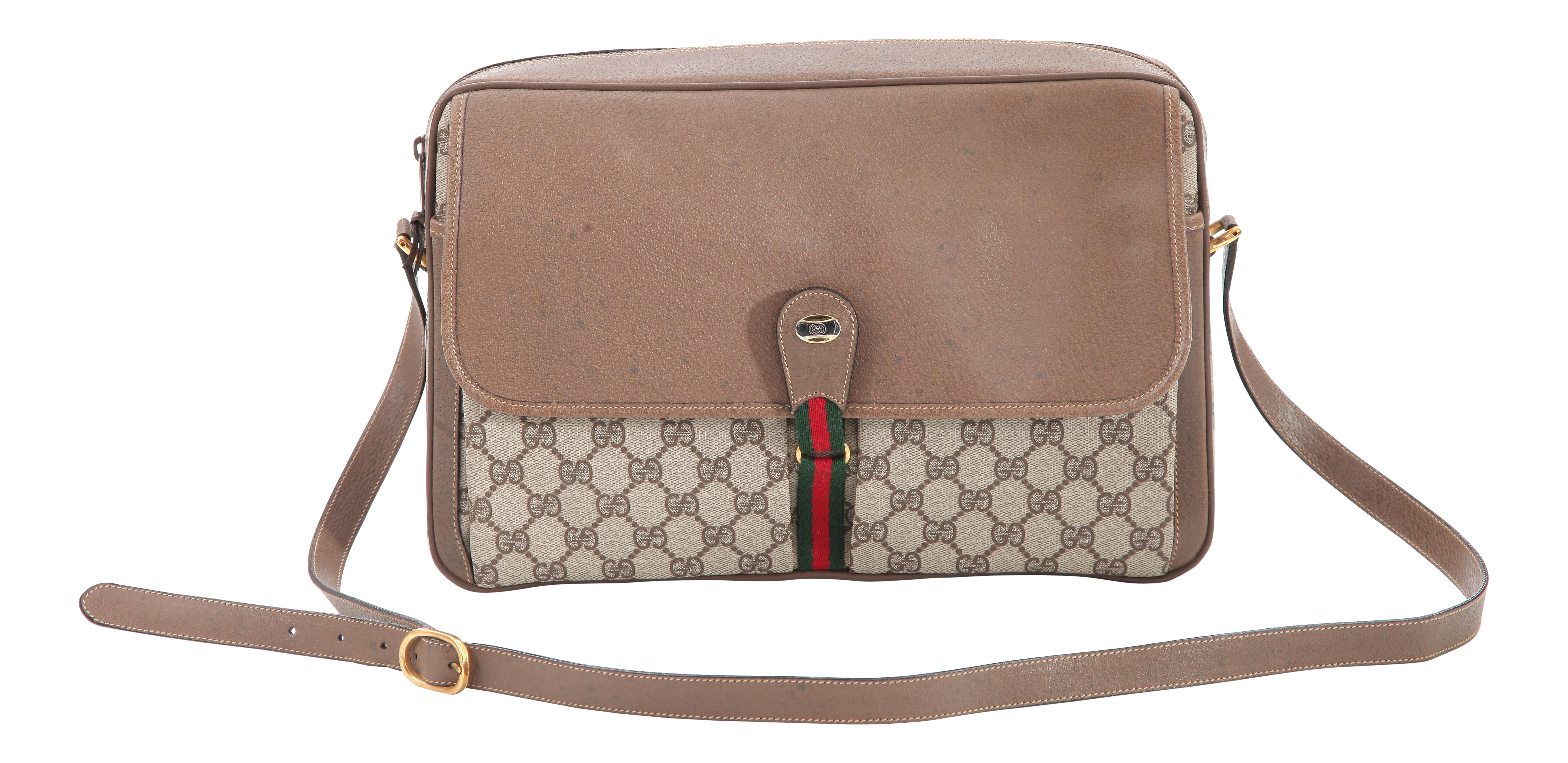 57faf80bf1eb Vintage Gucci Accessory Collection Era Class Monogram Messenger Bag |  Chairish