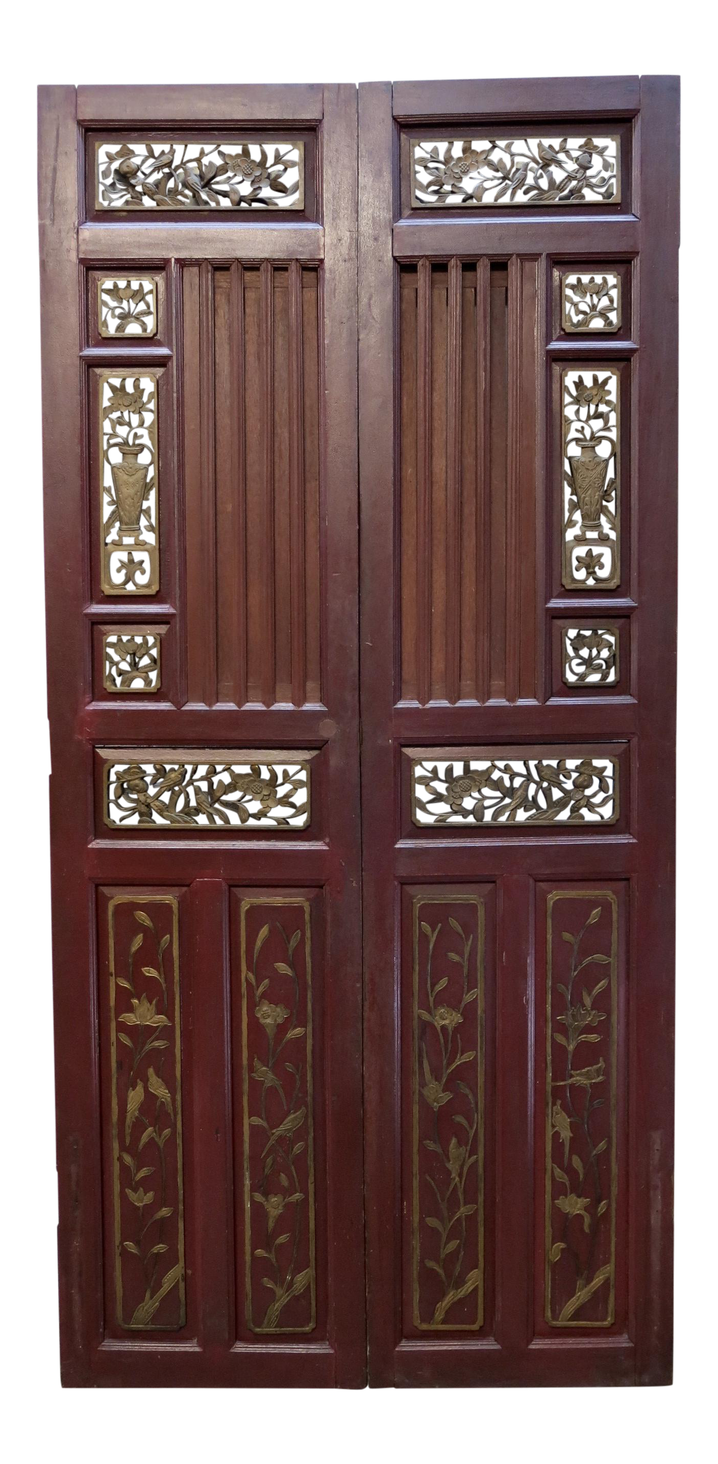 - Antique Chinese Hand Carved Wooden Doors - A Pair Chairish