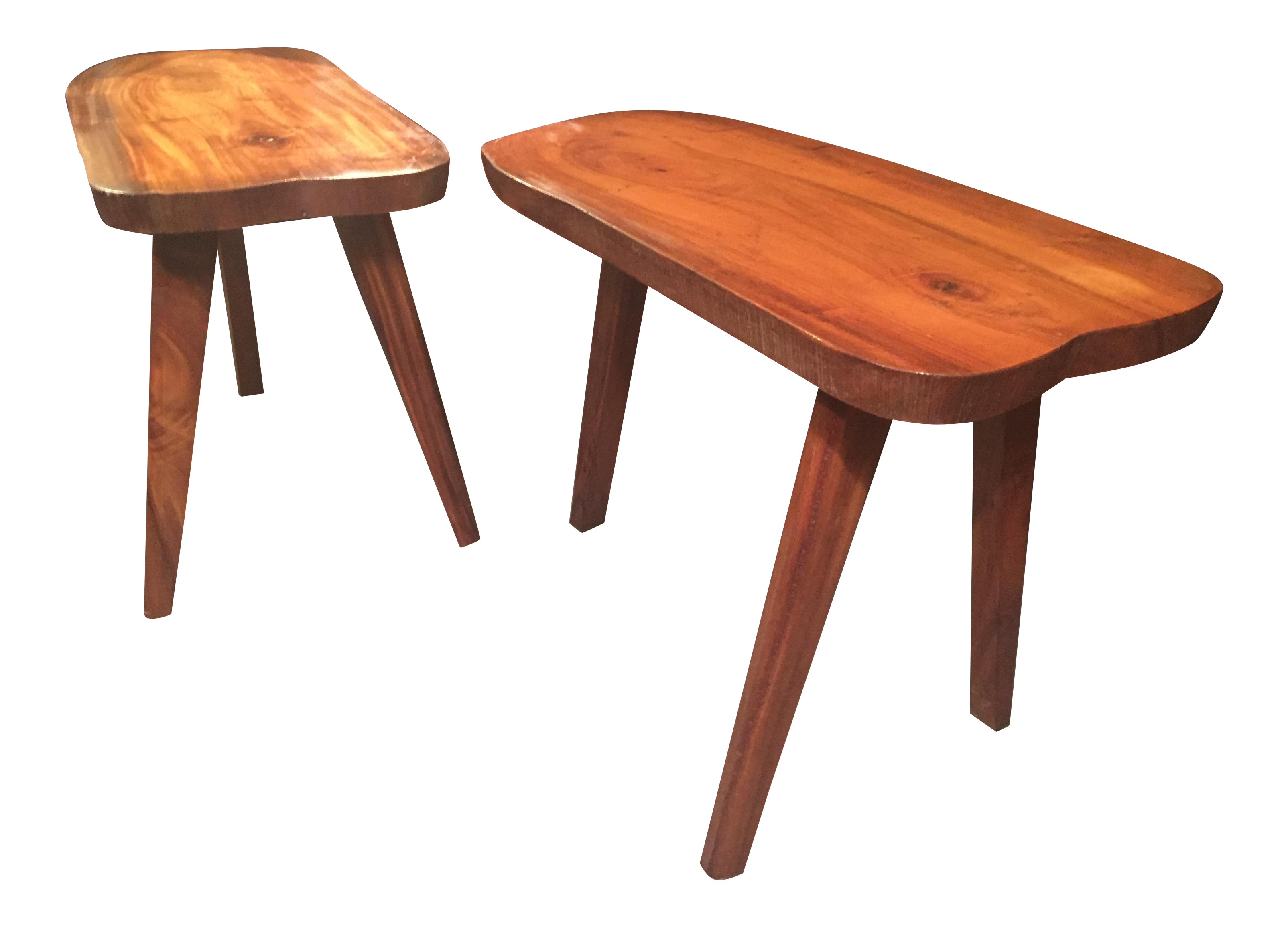 Monkey Pod Live Edge Side Tables - a Pair | Chairish