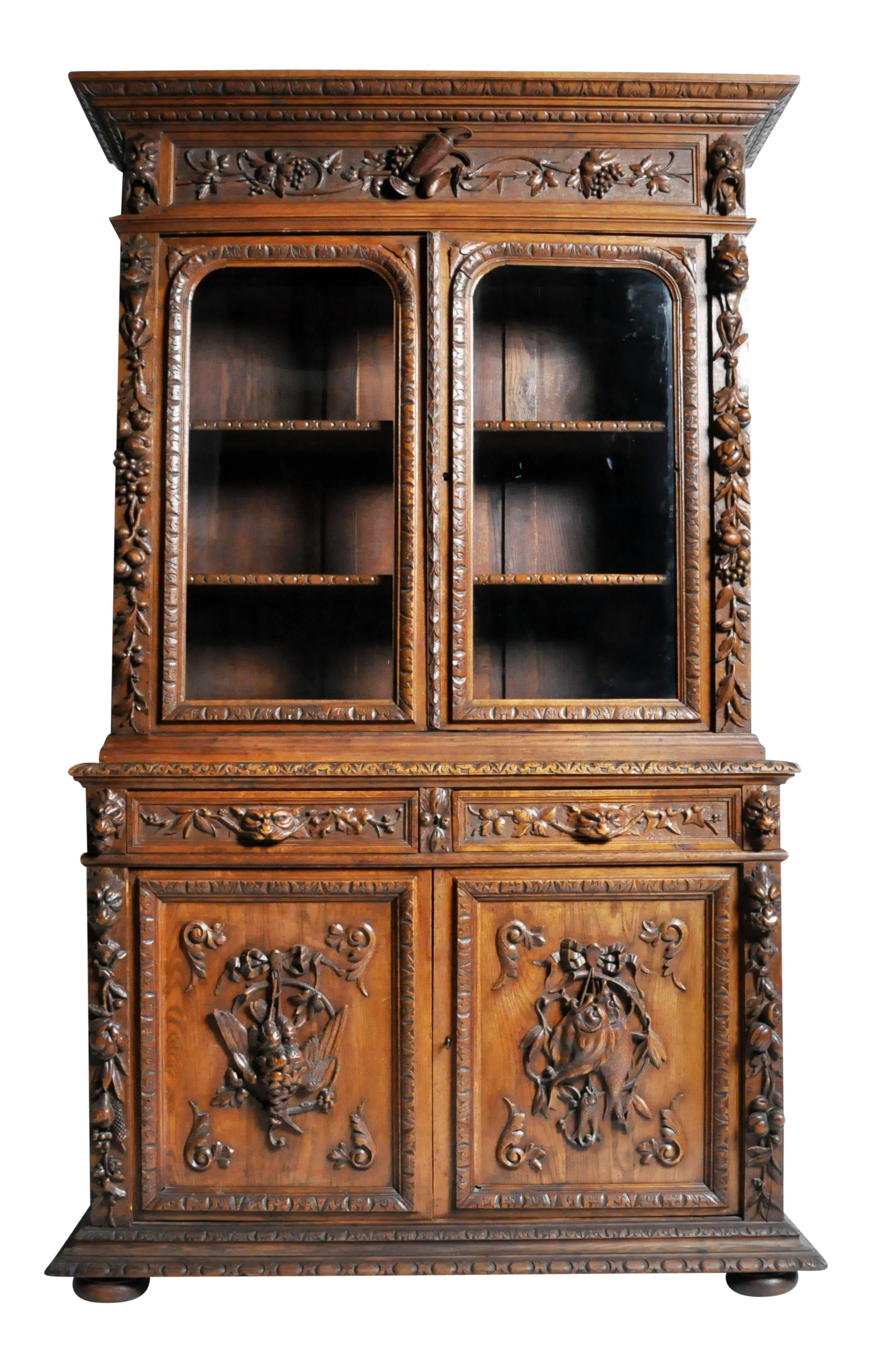 cabinet copy jacobean martinsville china product end of revival used high gothic oak american furniture prev