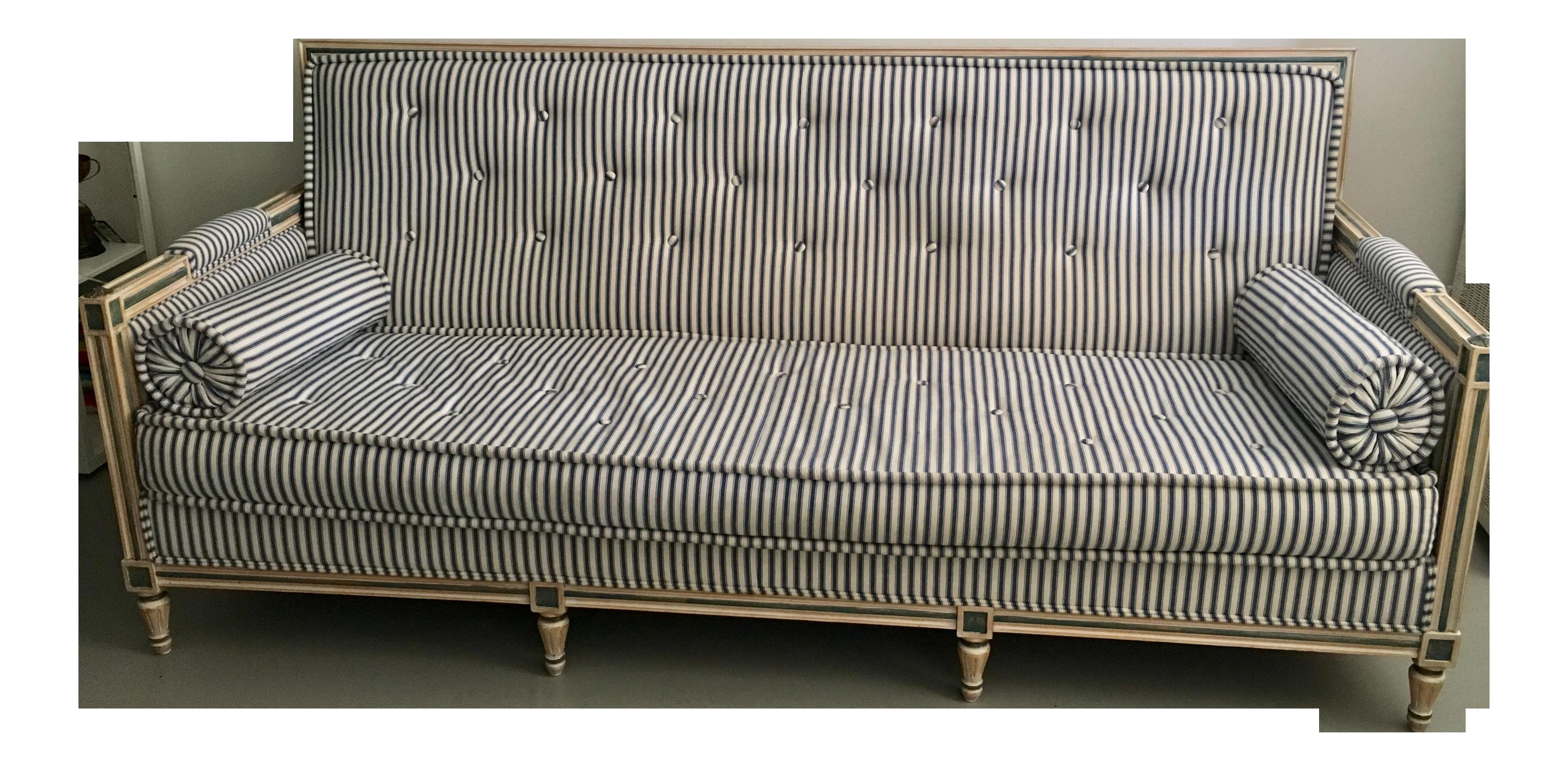 Vintage French Striped Sofa Chairish