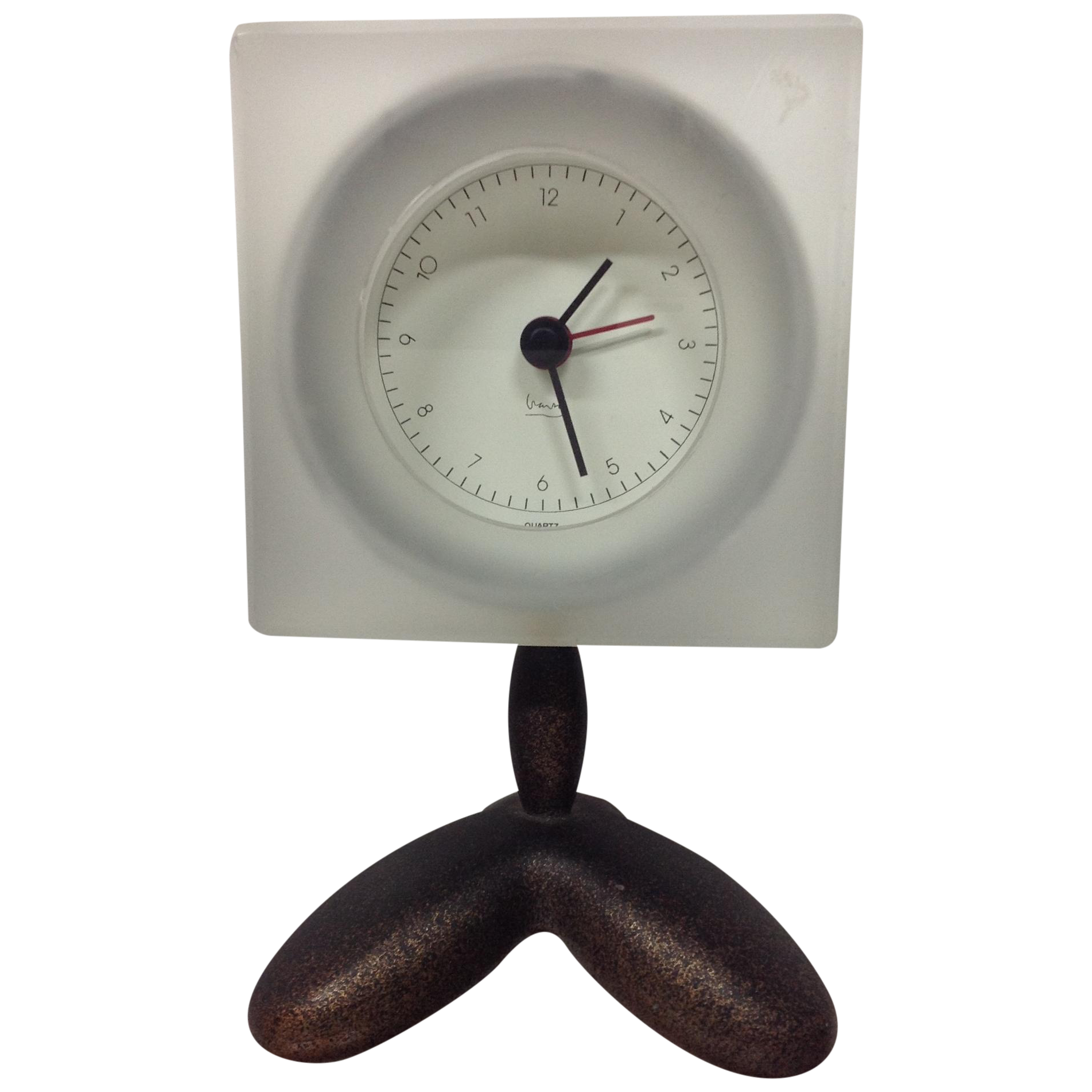 wendell castle style post modern clock by michael graves | chairish