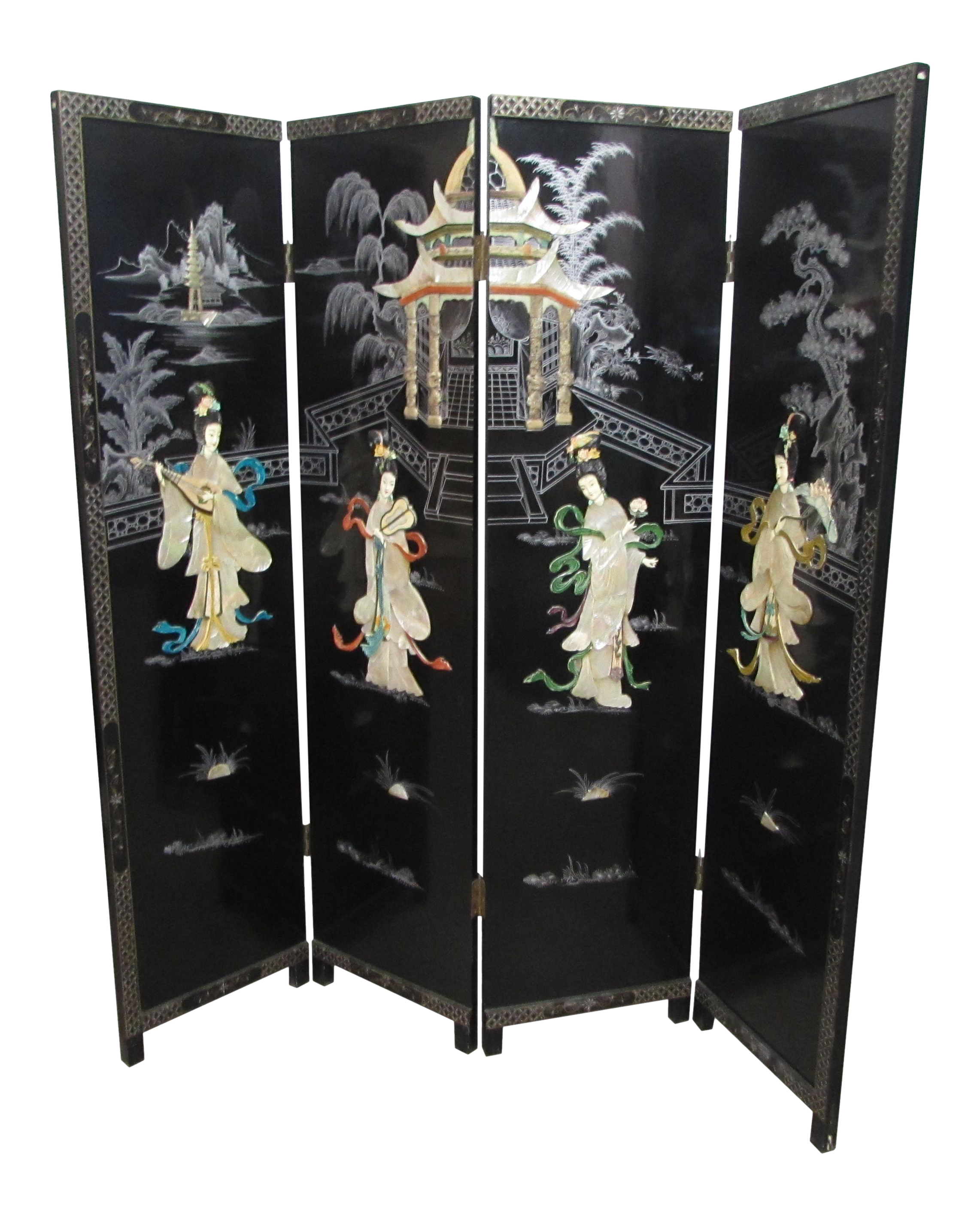 Black Chinese Room Divider Chairish
