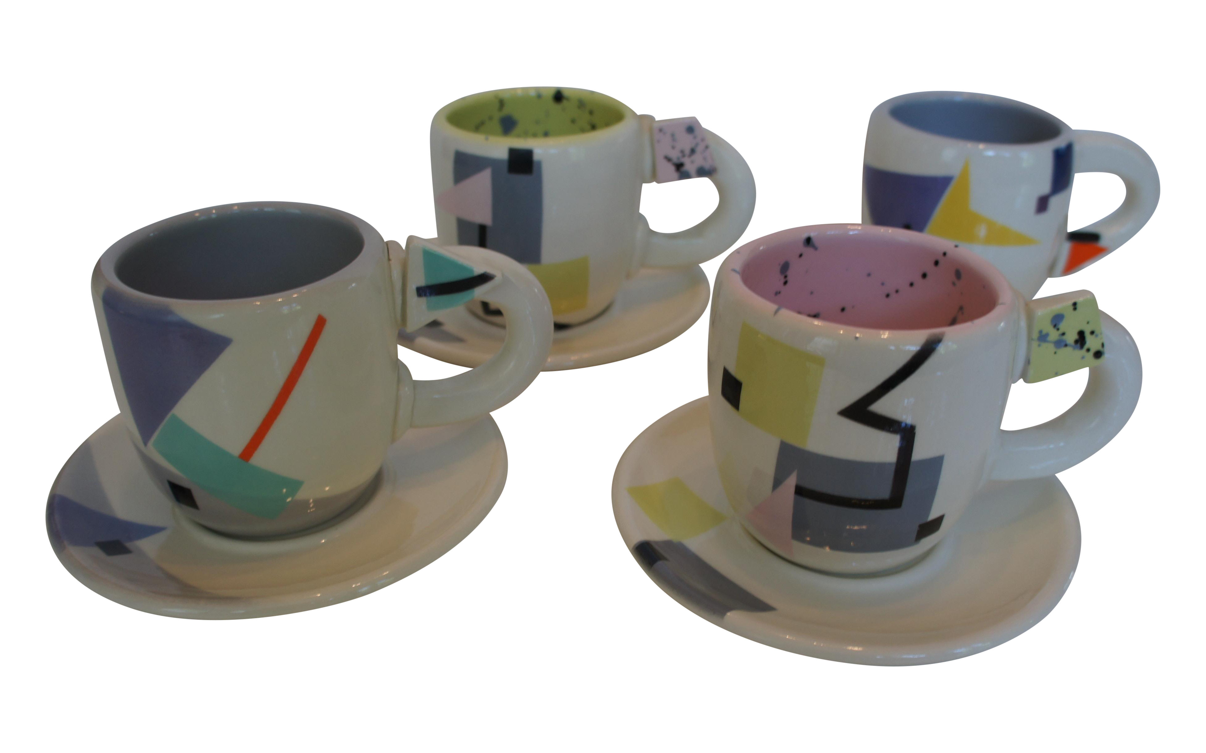 sc 1 st  Chairish & Rita Duvall Memphis Style Art Pottery Tea Set | Chairish