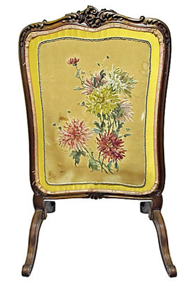 French Fireplace Screen Cover Chairish