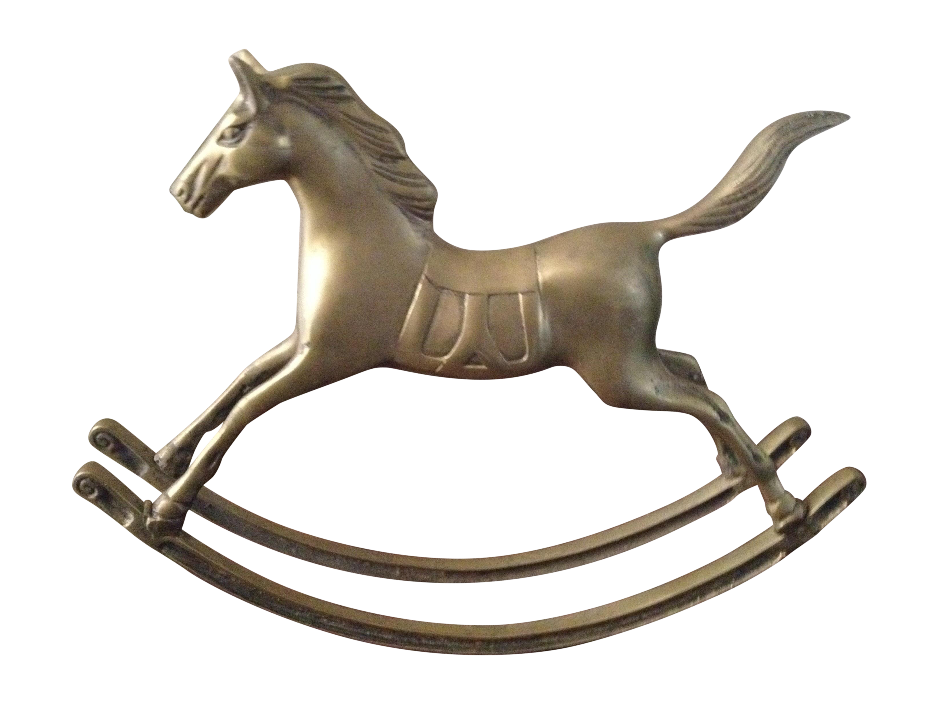 large vintage solid brass rocking horse chairish
