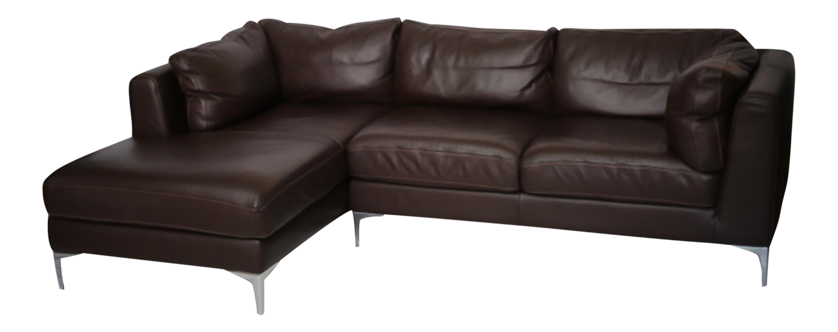 Remarkable Nicoletti For Design Within Reach Brown Leather Sectional Ncnpc Chair Design For Home Ncnpcorg