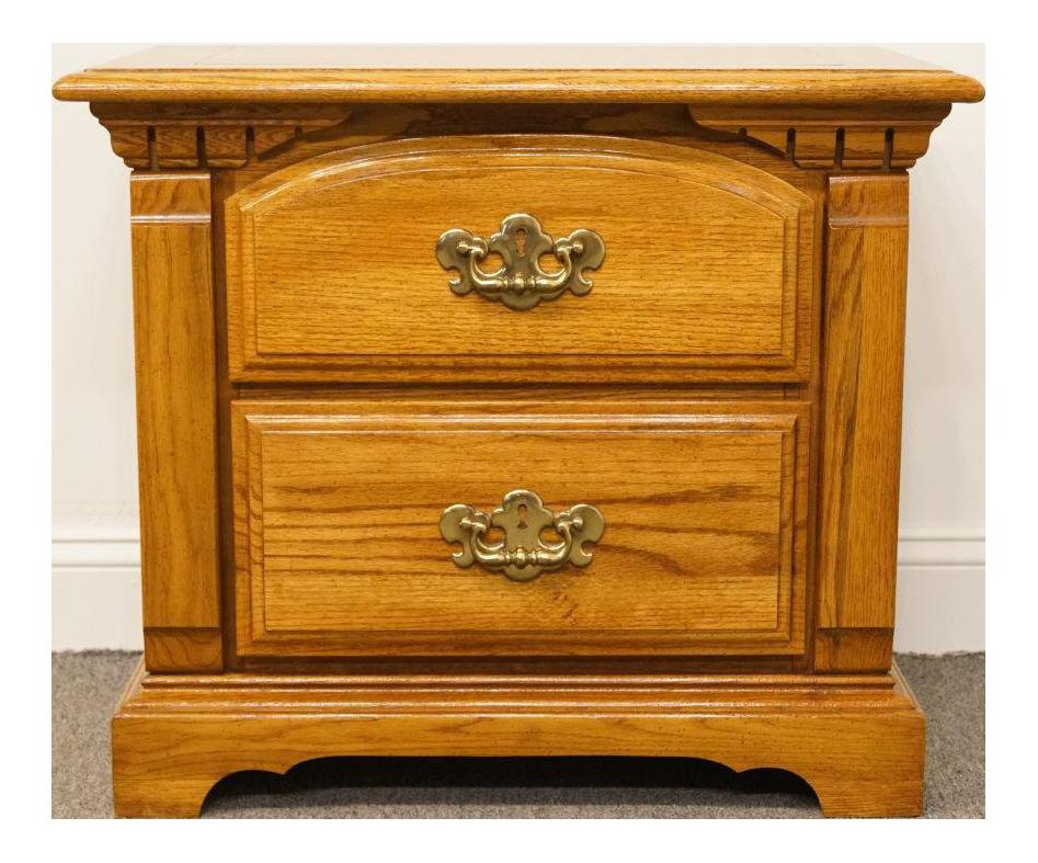 Late 20th Century Bassett Furniture Oak Nightstand Chairish