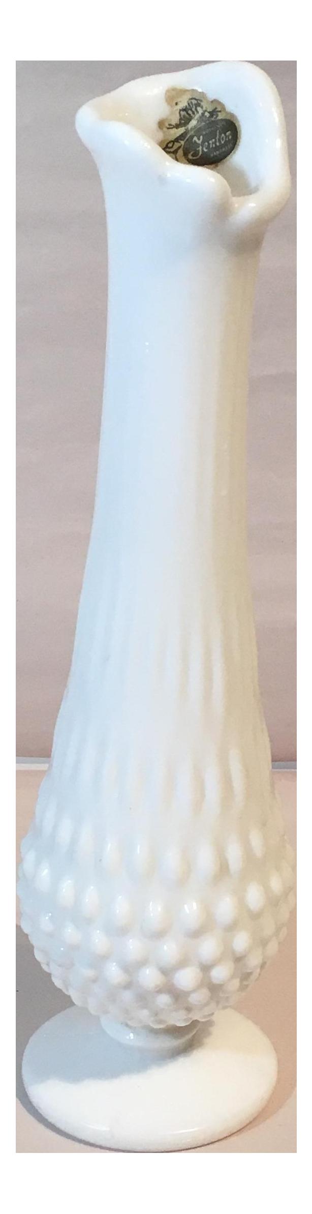 Fenton hobnail milk glass swung bud vase chairish reviewsmspy
