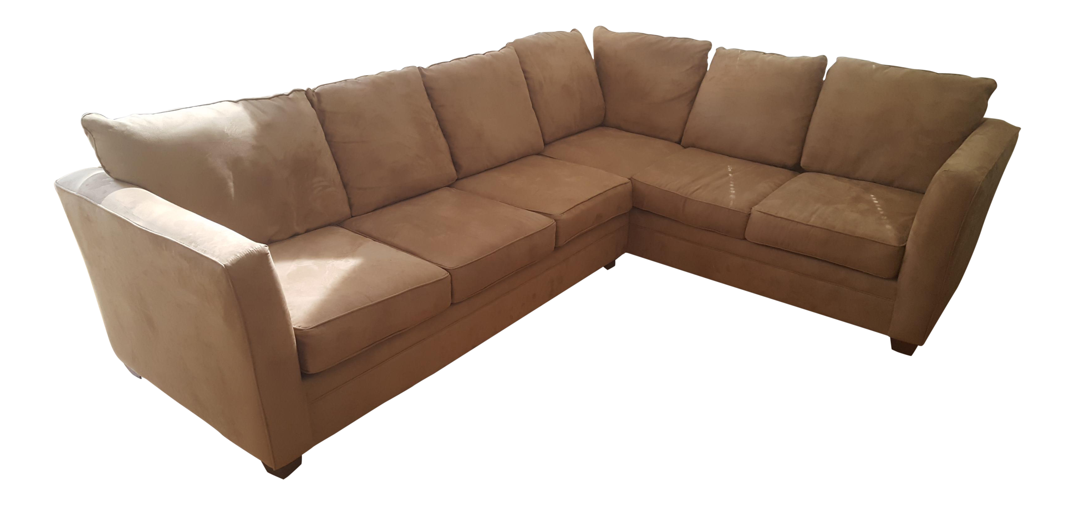 Favorite Macy's L-Shaped Suede Sectional Sofa | Chairish TO25